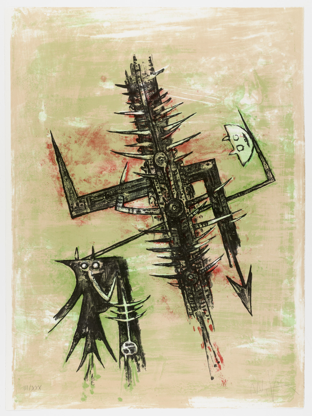 Wifredo Lam. Acide doux from Homage to Picasso (Hommage à Picasso). 1973