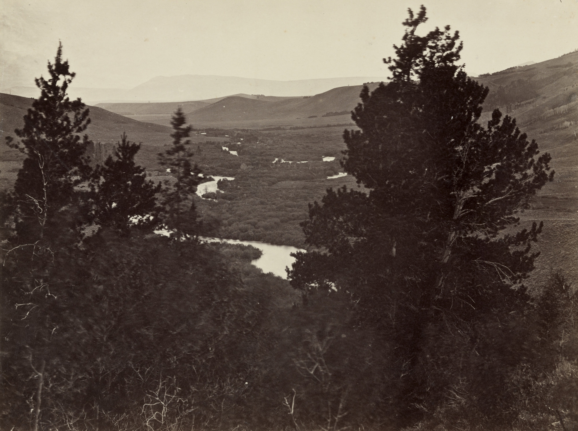 Andrew Joseph Russell. Valley of the Great Laramie from the Mountains. 1860-69