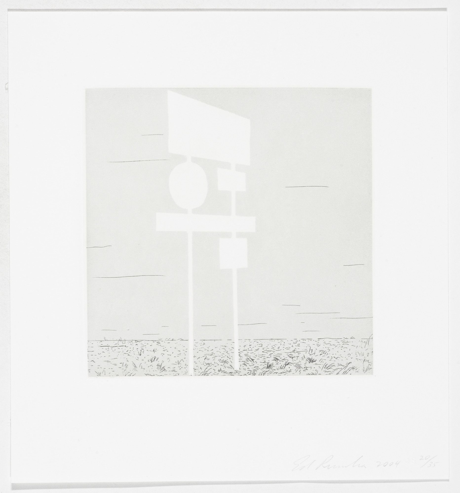 Edward Ruscha. Untitled from Blank Signs. 2004