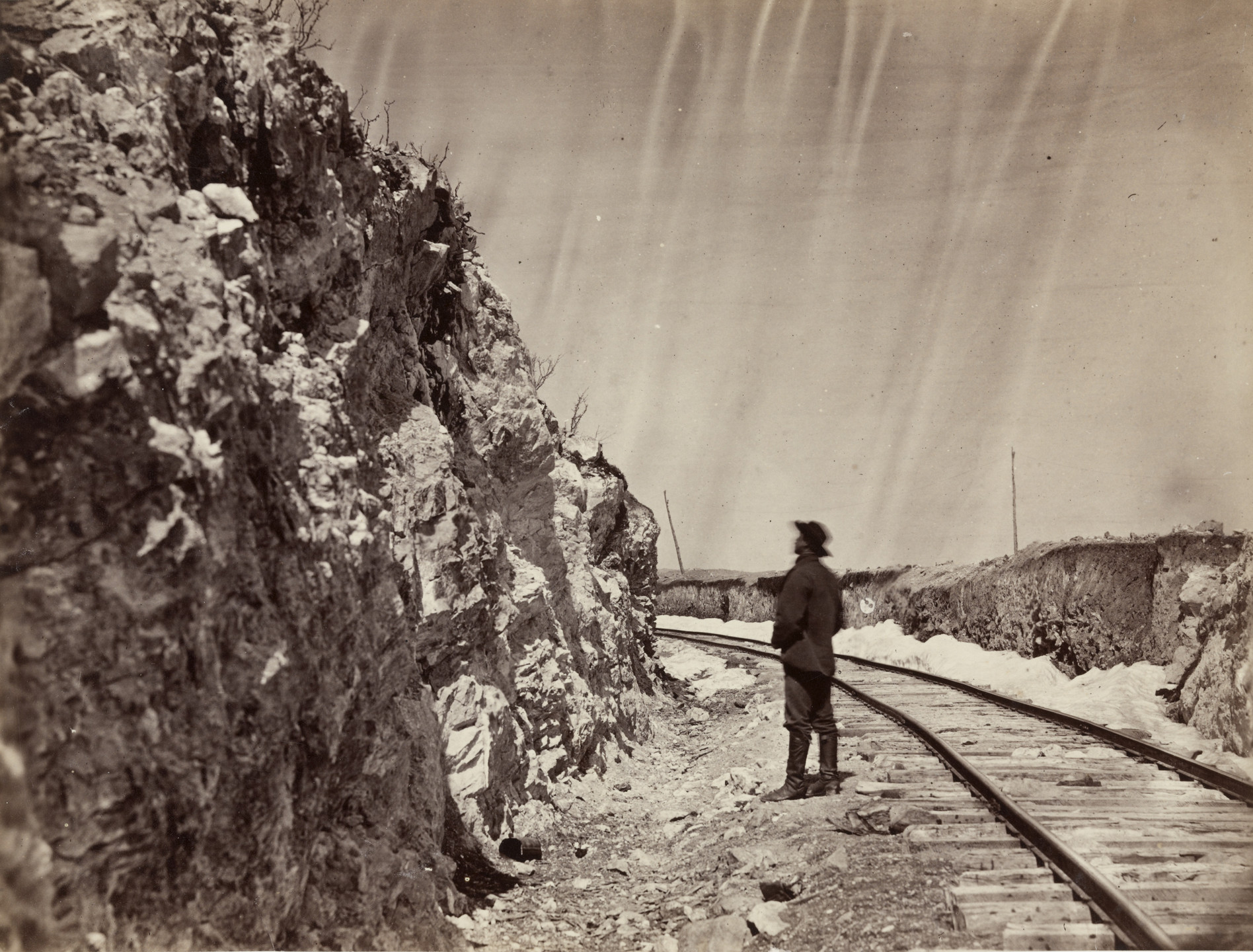 Andrew Joseph Russell. Lime Kiln Cut, Near Granite Canyon. 1867