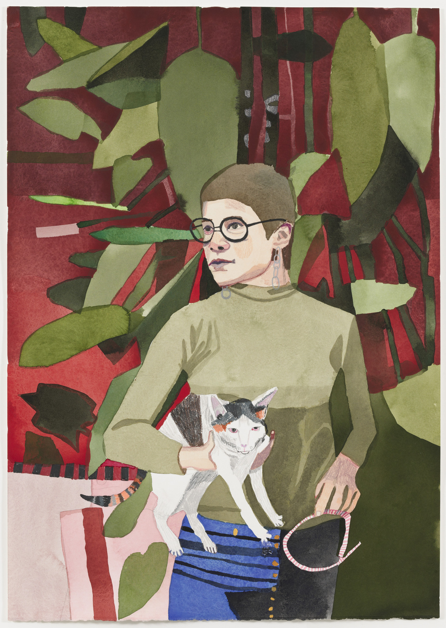Jonas Wood. Robin with Phoebe. 2008