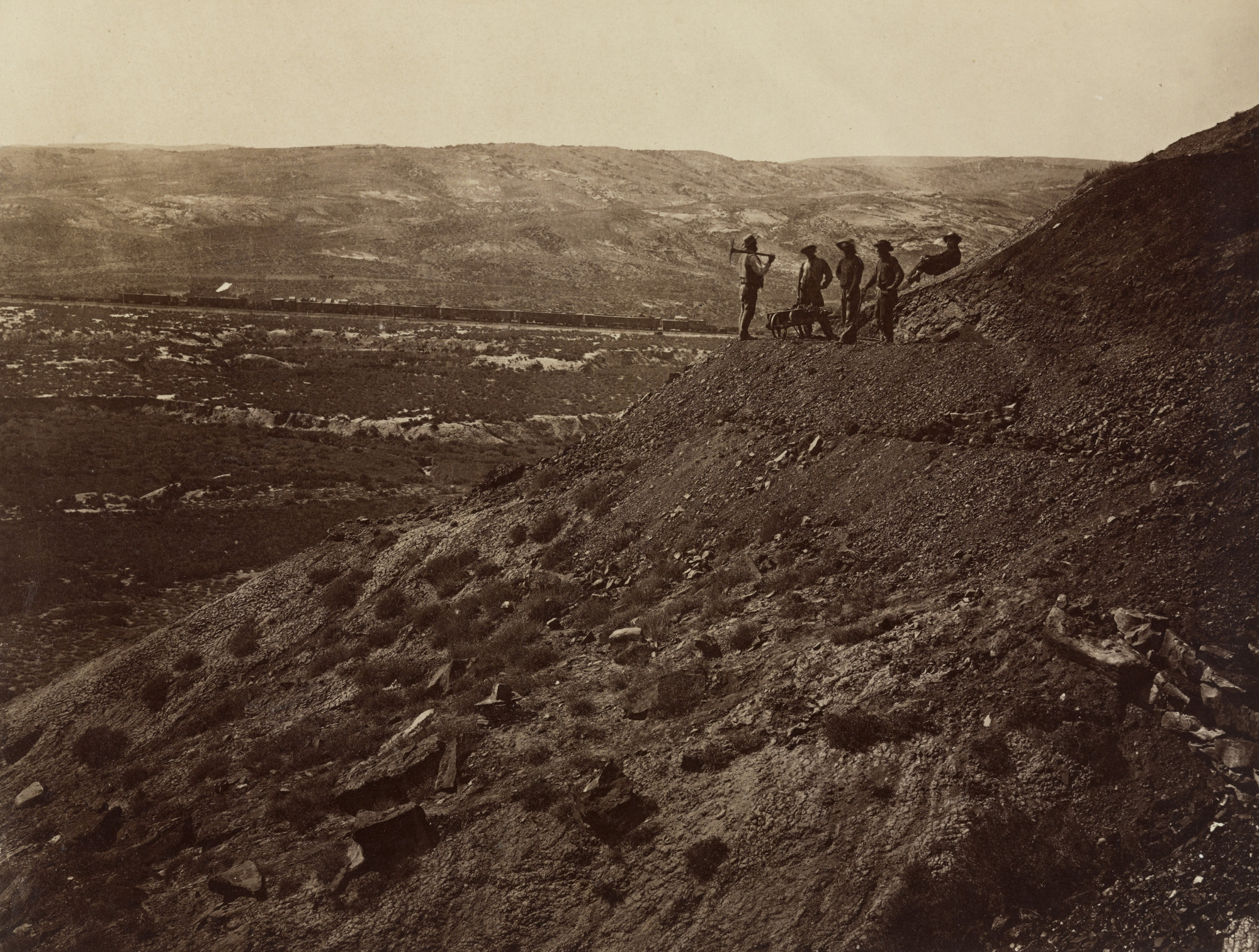 Andrew Joseph Russell. Valley of Bitter Creek from Coal Mine. 1867-69