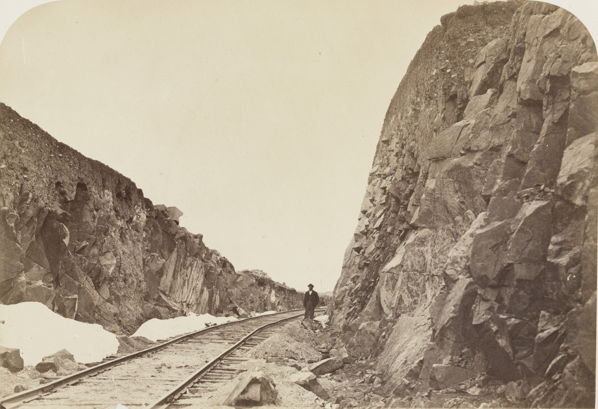 Andrew Joseph Russell. Hill's Farm, Near Granite Canyon. 1867