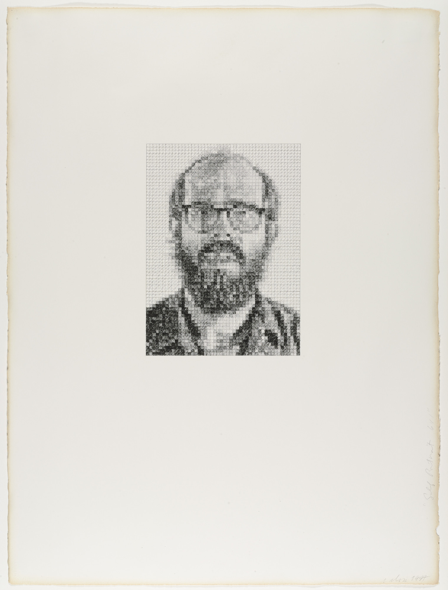 Chuck Close. Self-Portrait/6x1. 1977