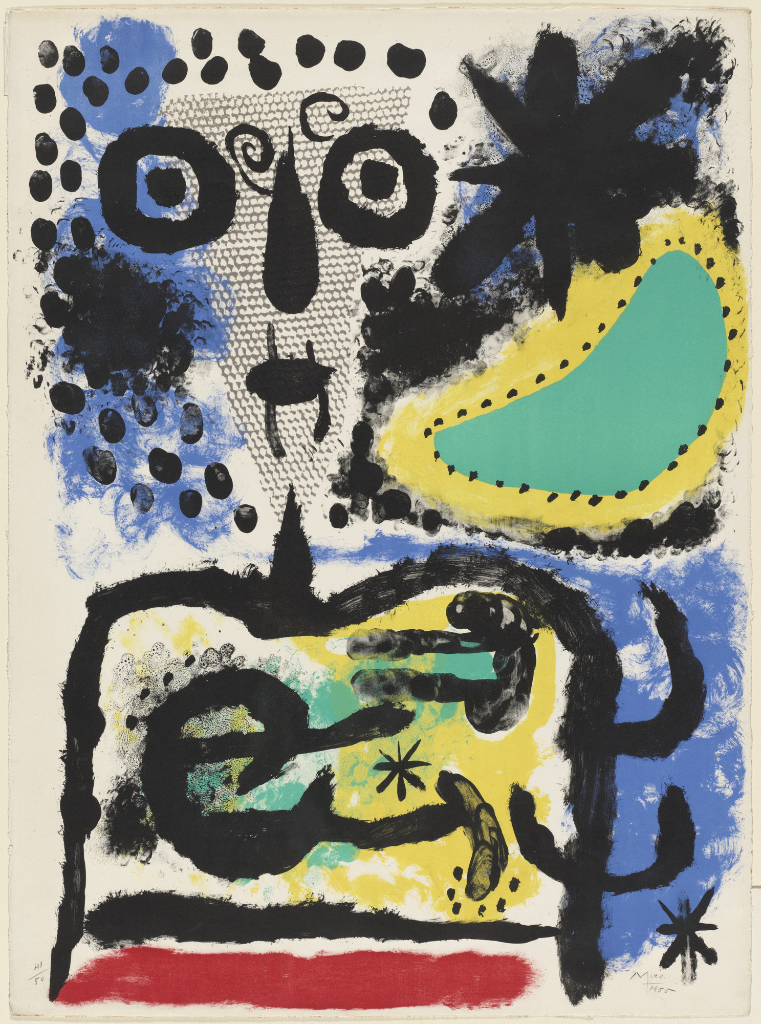 Joan Miró. Beclouded Person. 1955