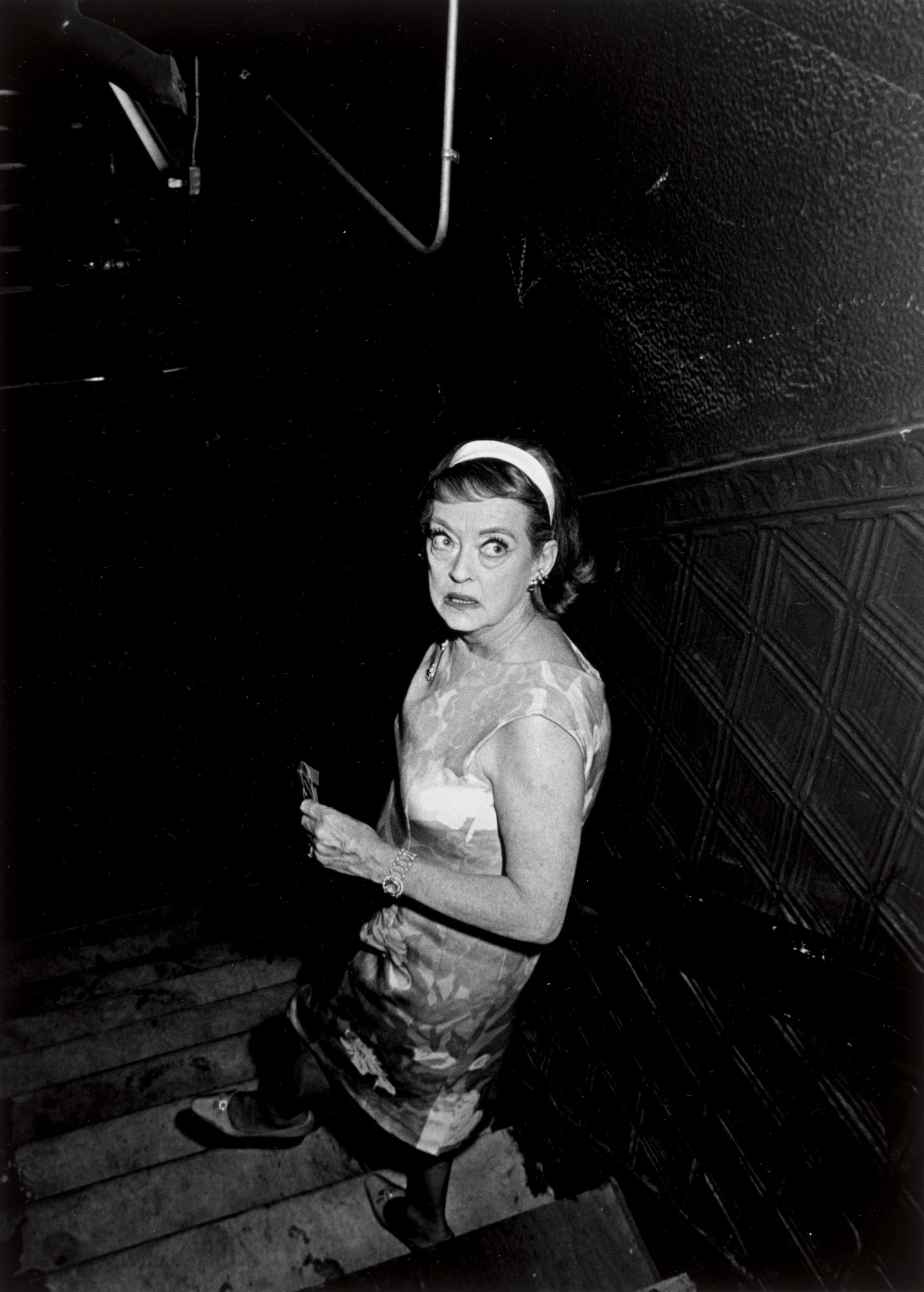 Ron Galella. Bette Davis Backstage at the Cheetah Costume Ball at the Electric Circus, New York. May 16, 1968