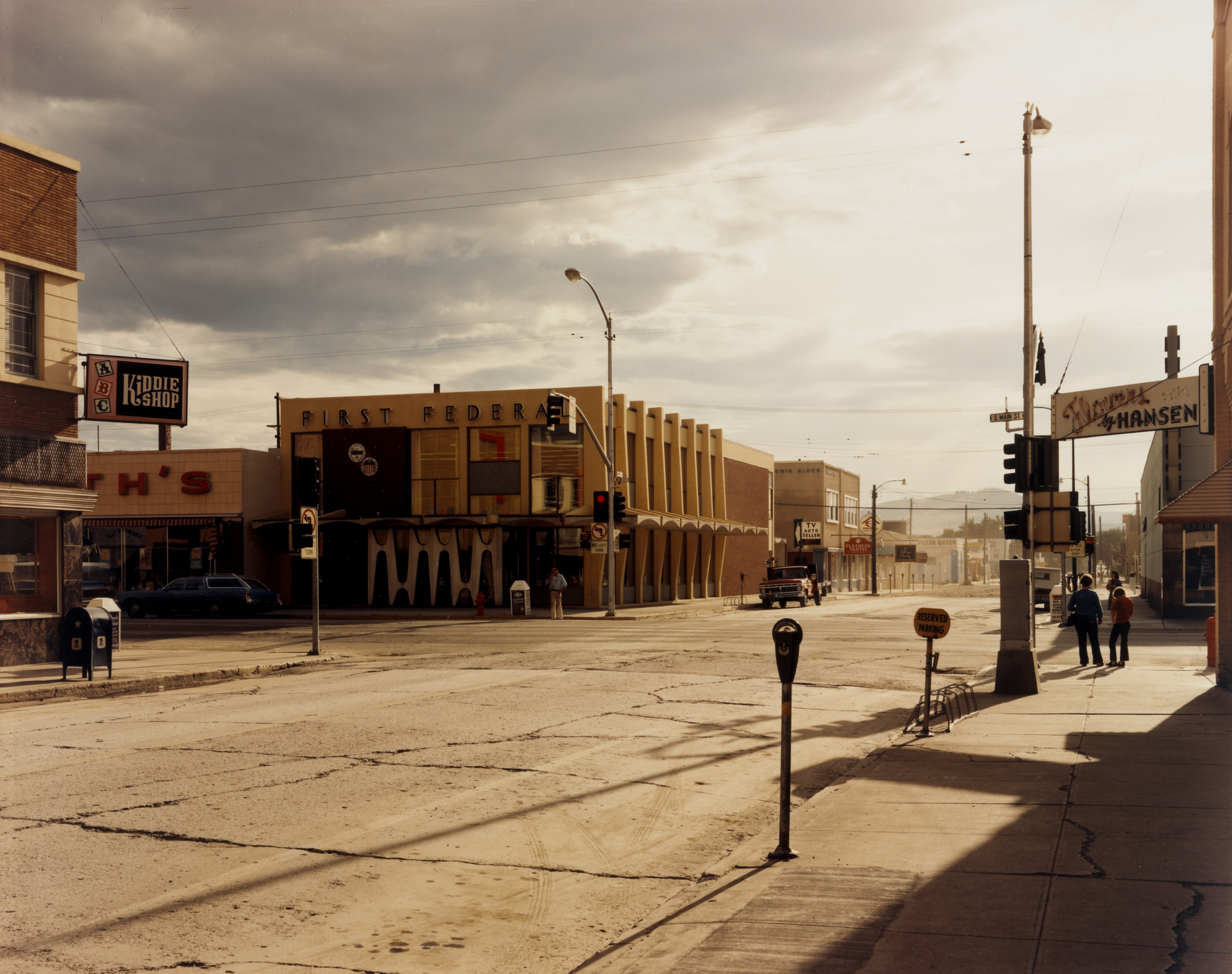 Stephen Shore  2nd Street East and South Main Street, Kalispell