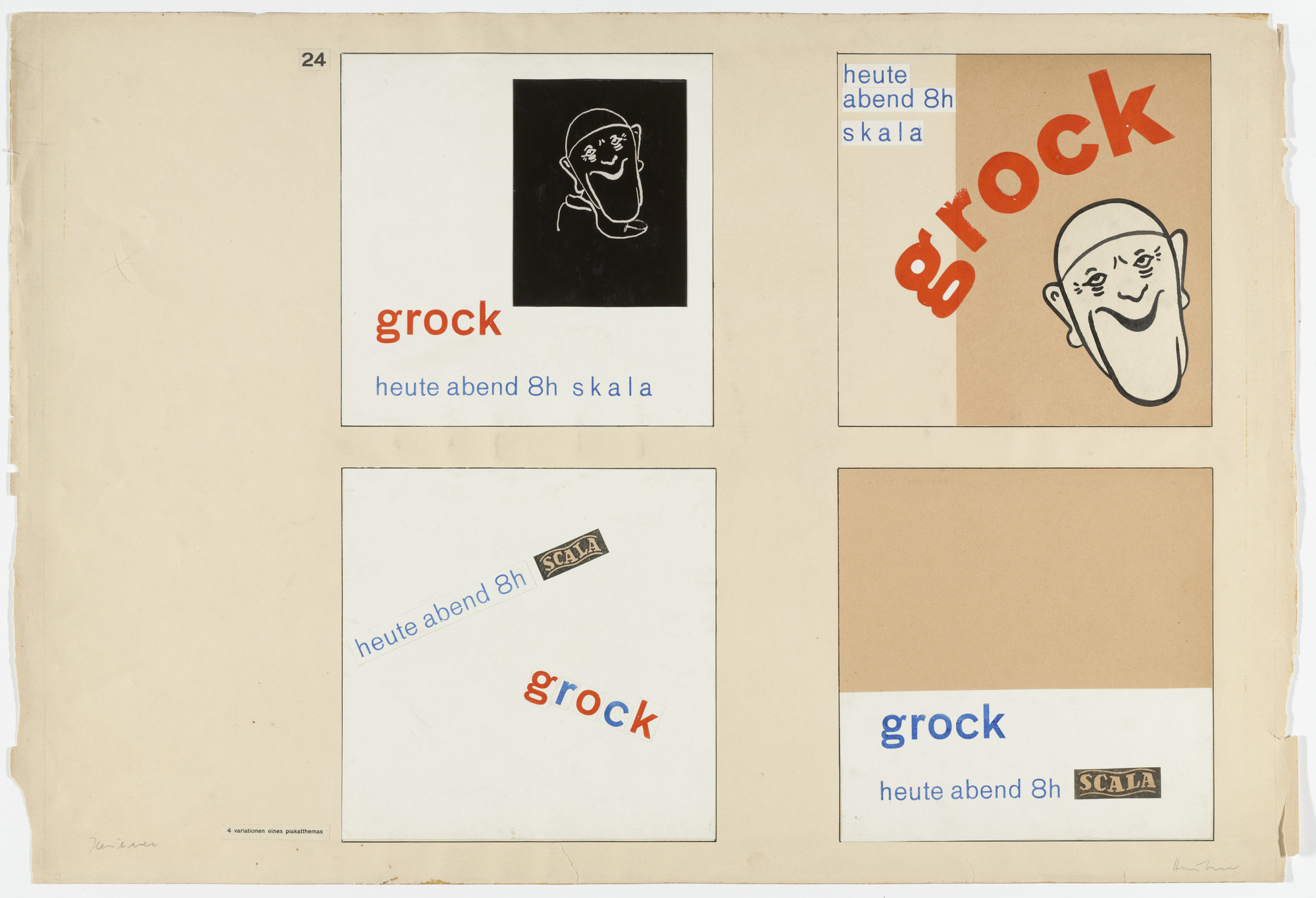 Albrecht Heubner. Variations on Poster Themes (From Joost Schmidt's Bauhaus Design Course). 1930–1933