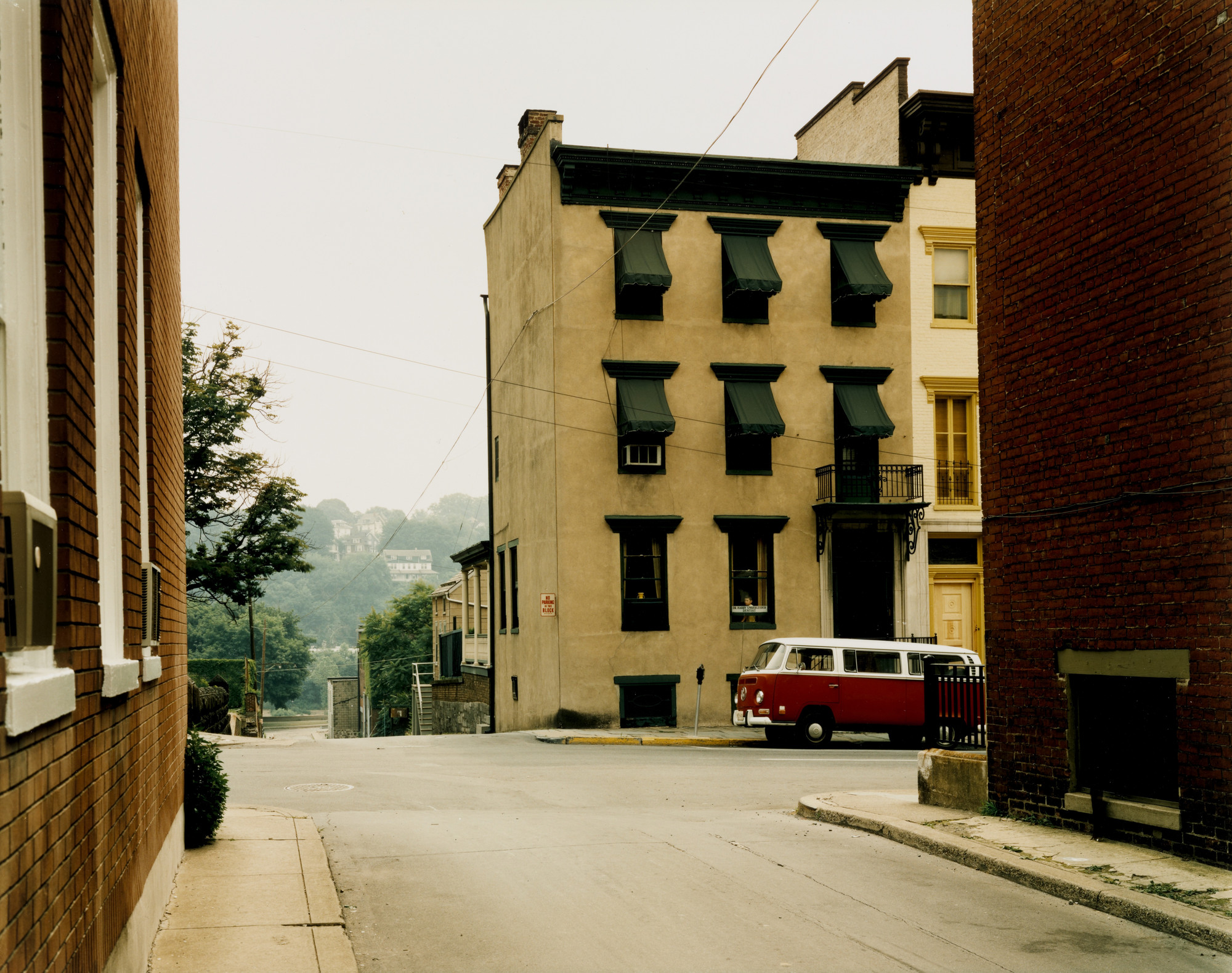 Stephen Shore. Church and 2nd Streets, Easton, Pennsylvania, June 20, 1974. 1974
