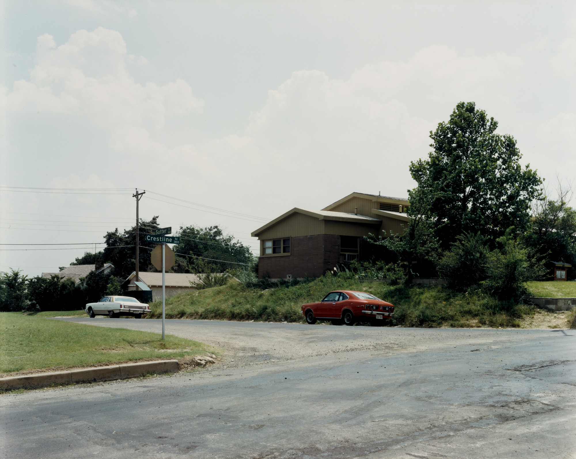 Stephen Shore. Sutter Street and Crestline Road, Fort Worth, Texas, June 3, 1976. 1976