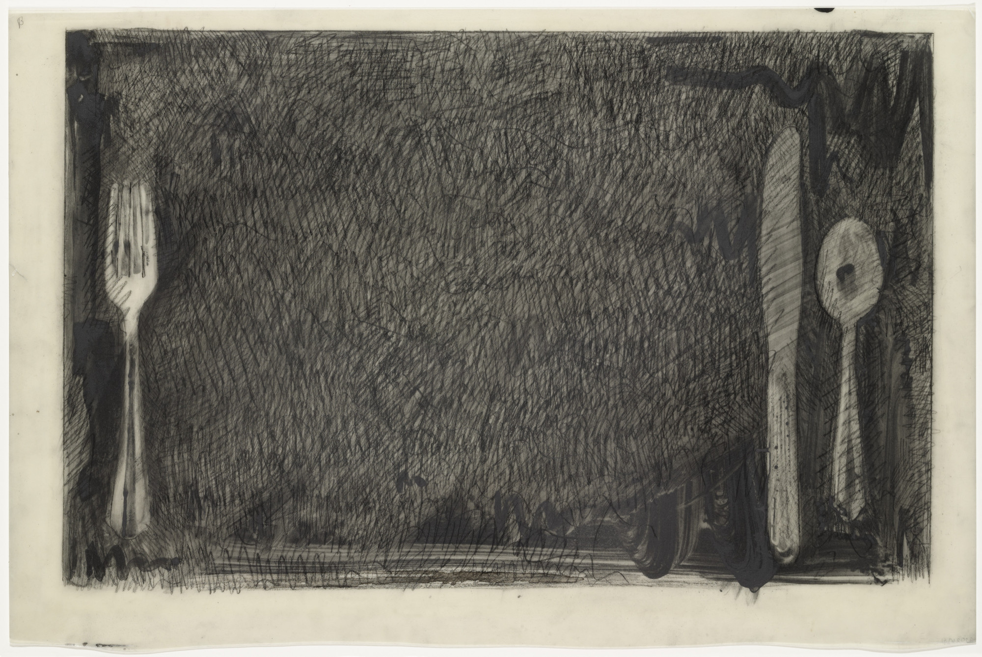 Jasper Johns. Preparatory drawing for In Memory of My Feelings. 1967