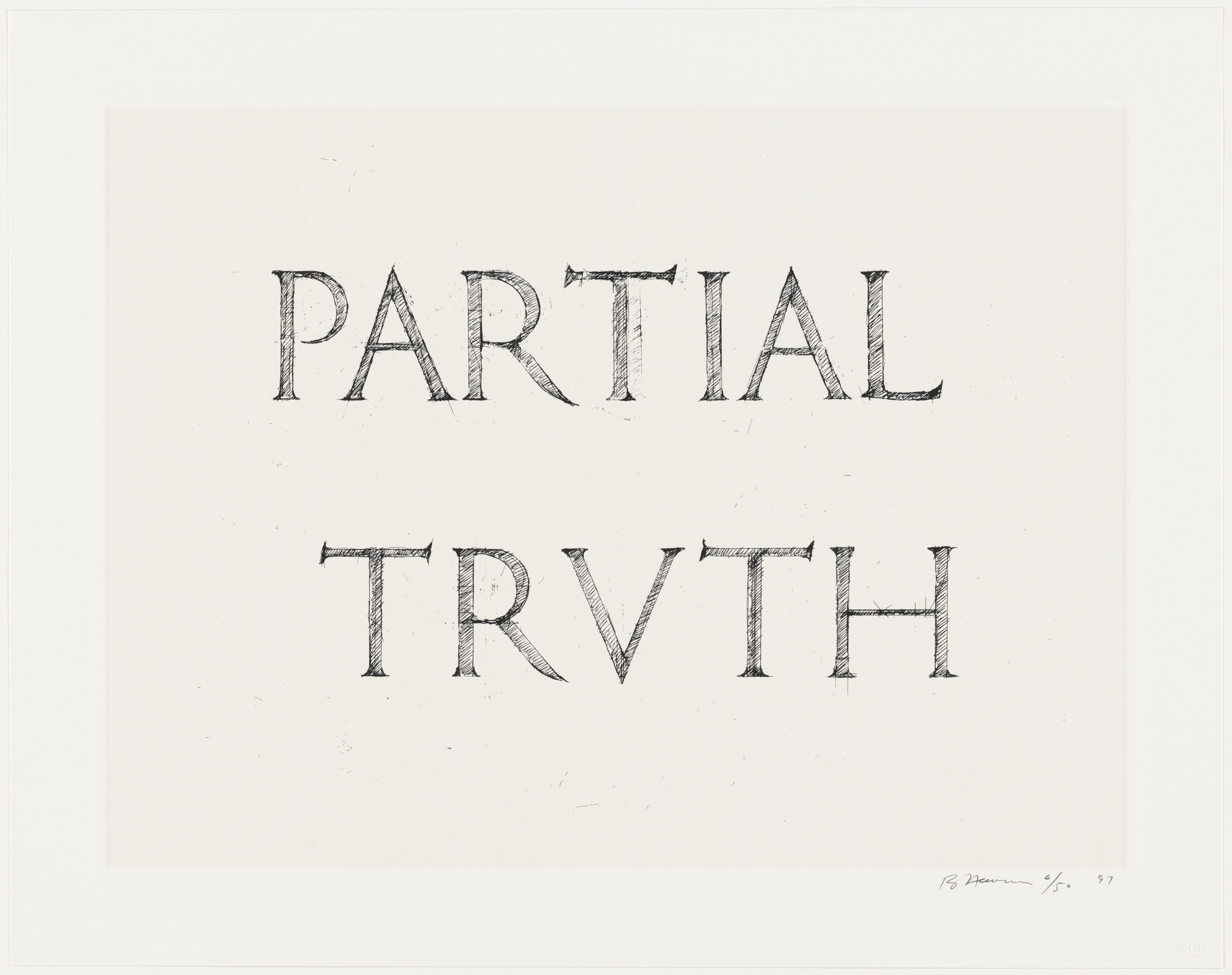 Bruce Nauman. Partial Truth. 1997