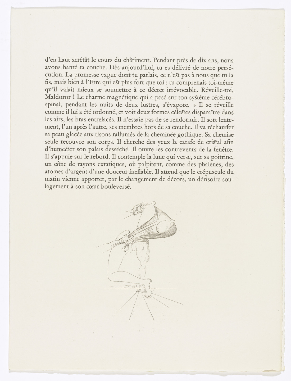 Salvador Dalí. Tailpiece (page 173) from Les Chants de Maldoror (The Songs of Maldoror). 1934