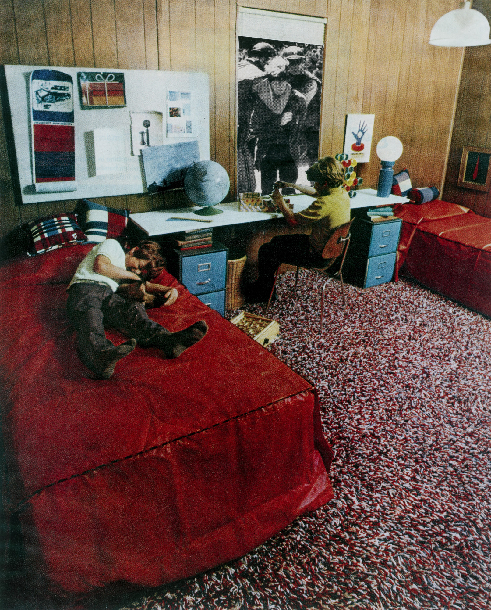 Martha Rosler. Boys' Room from the series House Beautiful: Bringing the War Home. c. 1967-72