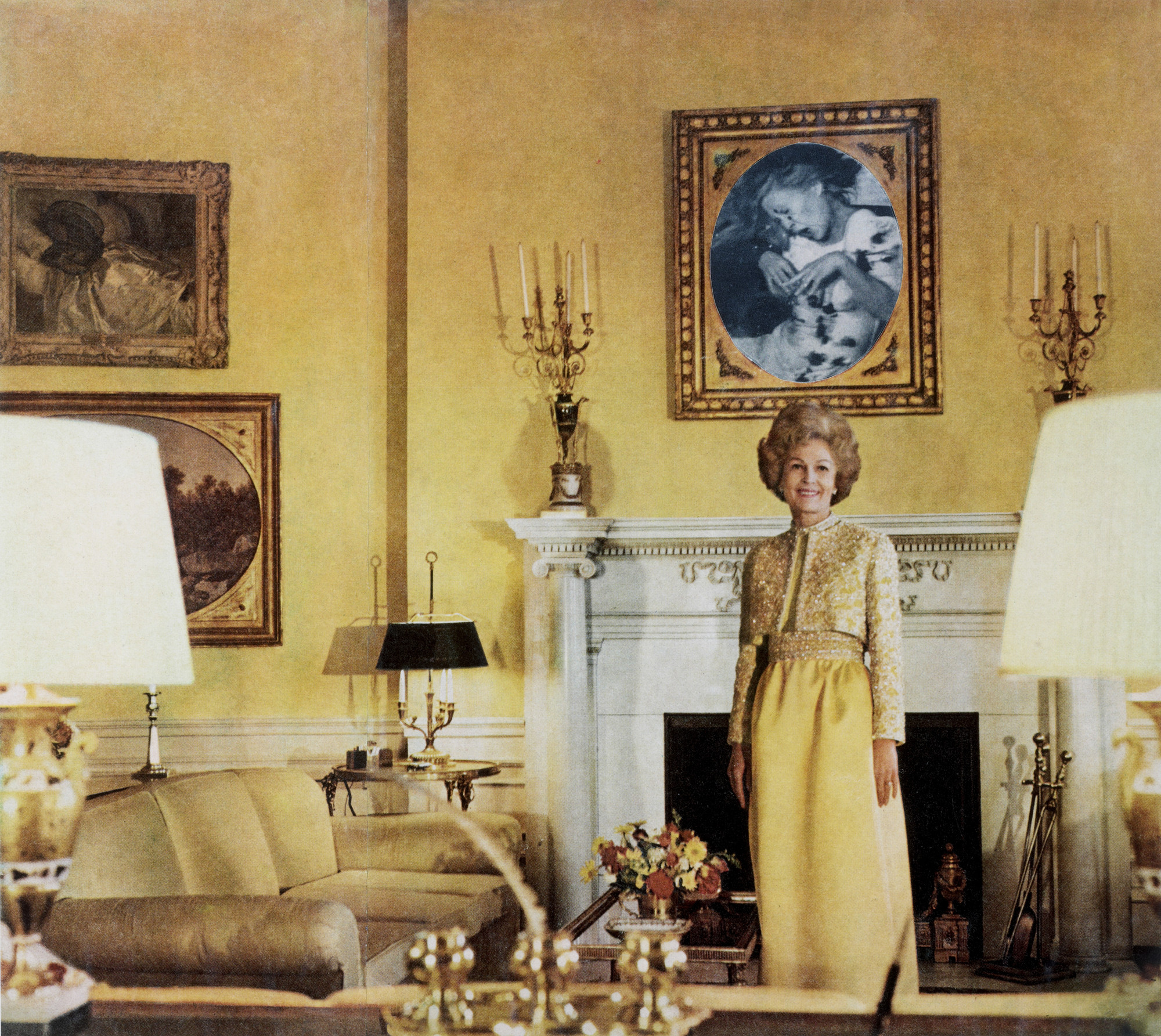 Martha Rosler. First Lady (Pat Nixon) from the series House Beautiful: Bringing the War Home. c. 1967-72