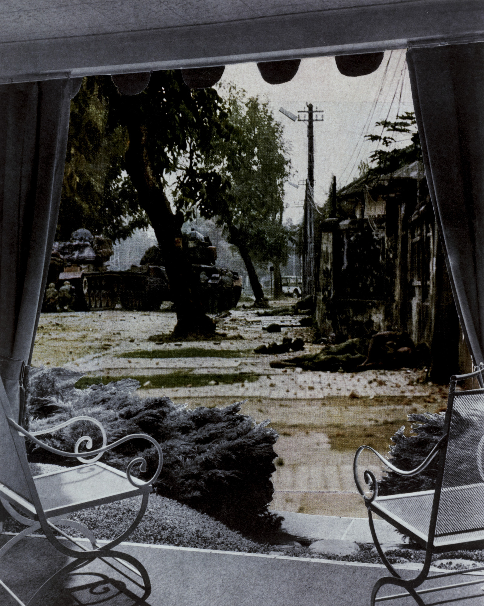 Martha Rosler. Patio View from the series House Beautiful: Bringing the War Home. c. 1967-72