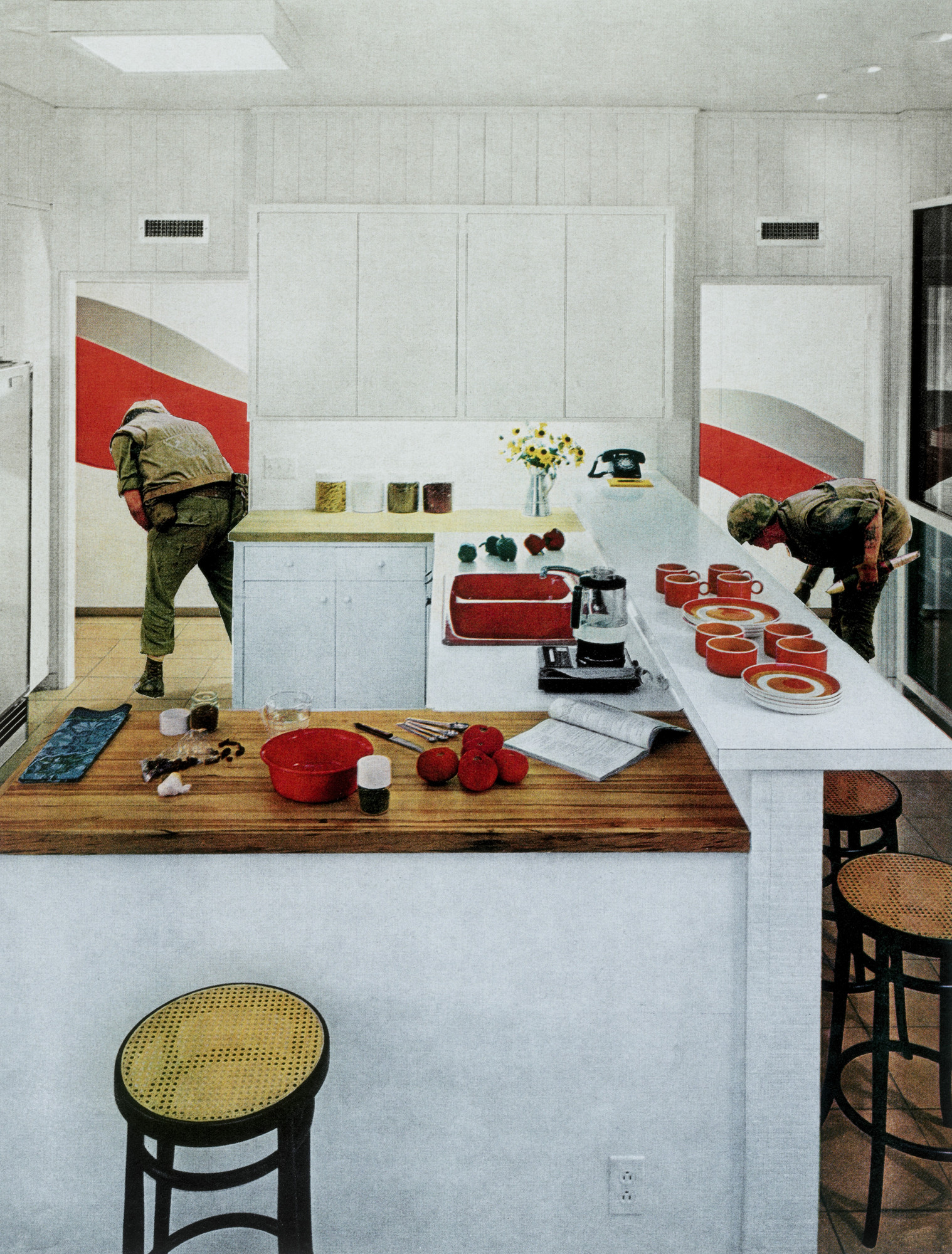 Martha Rosler. Red Stripe Kitchen from the series House Beautiful ...