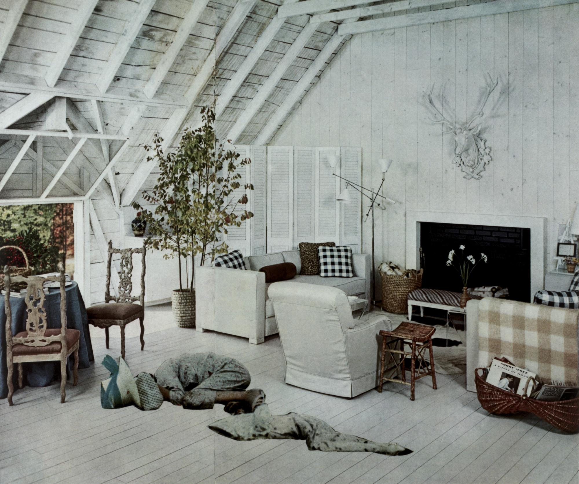 Martha Rosler. Roadside Ambush from the series House Beautiful: Bringing  the War Home. c. 1967-72 | MoMA