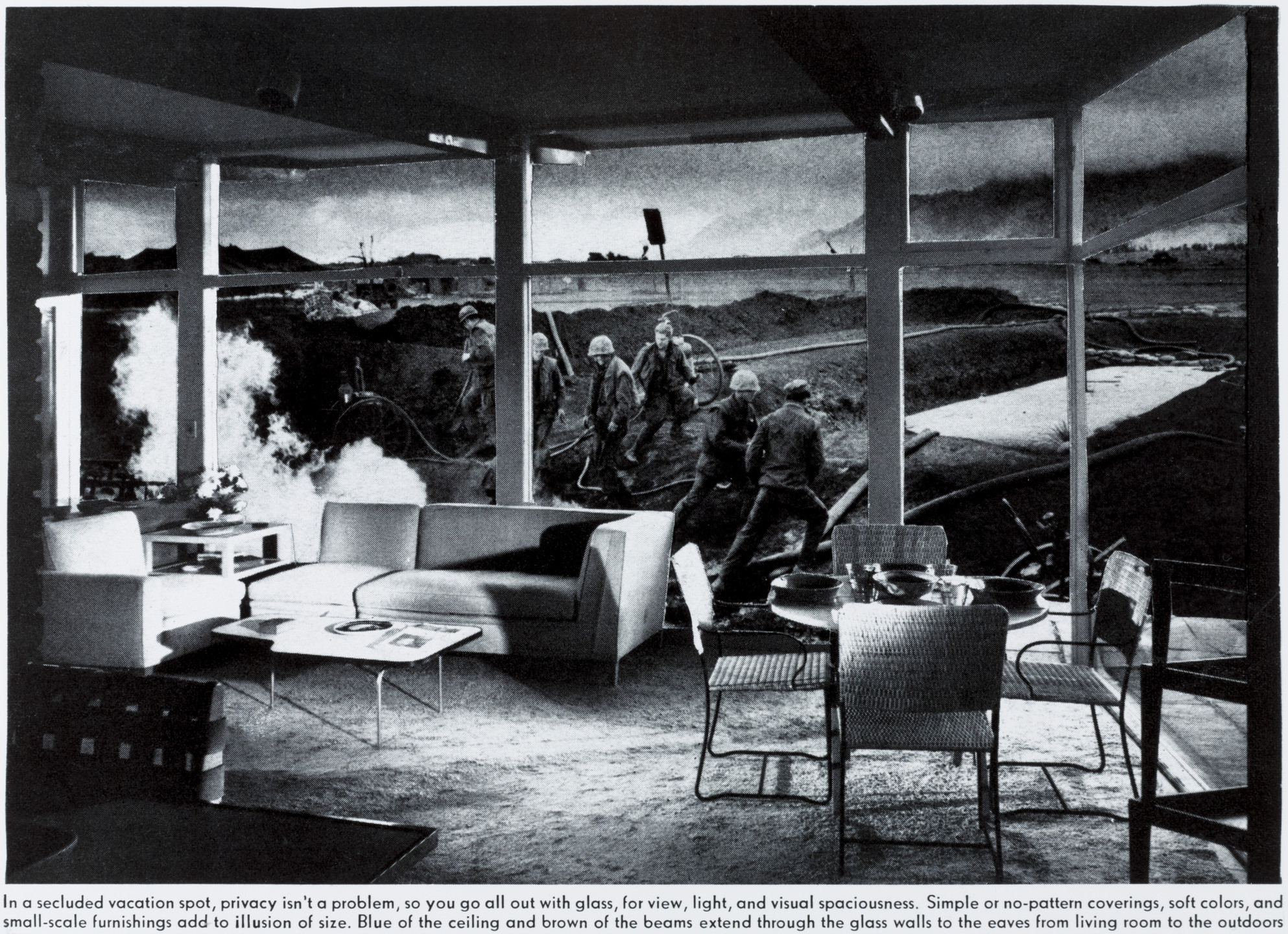 Martha Rosler. Vacation Getaway from the series House Beautiful: Bringing the War Home. c. 1967-72