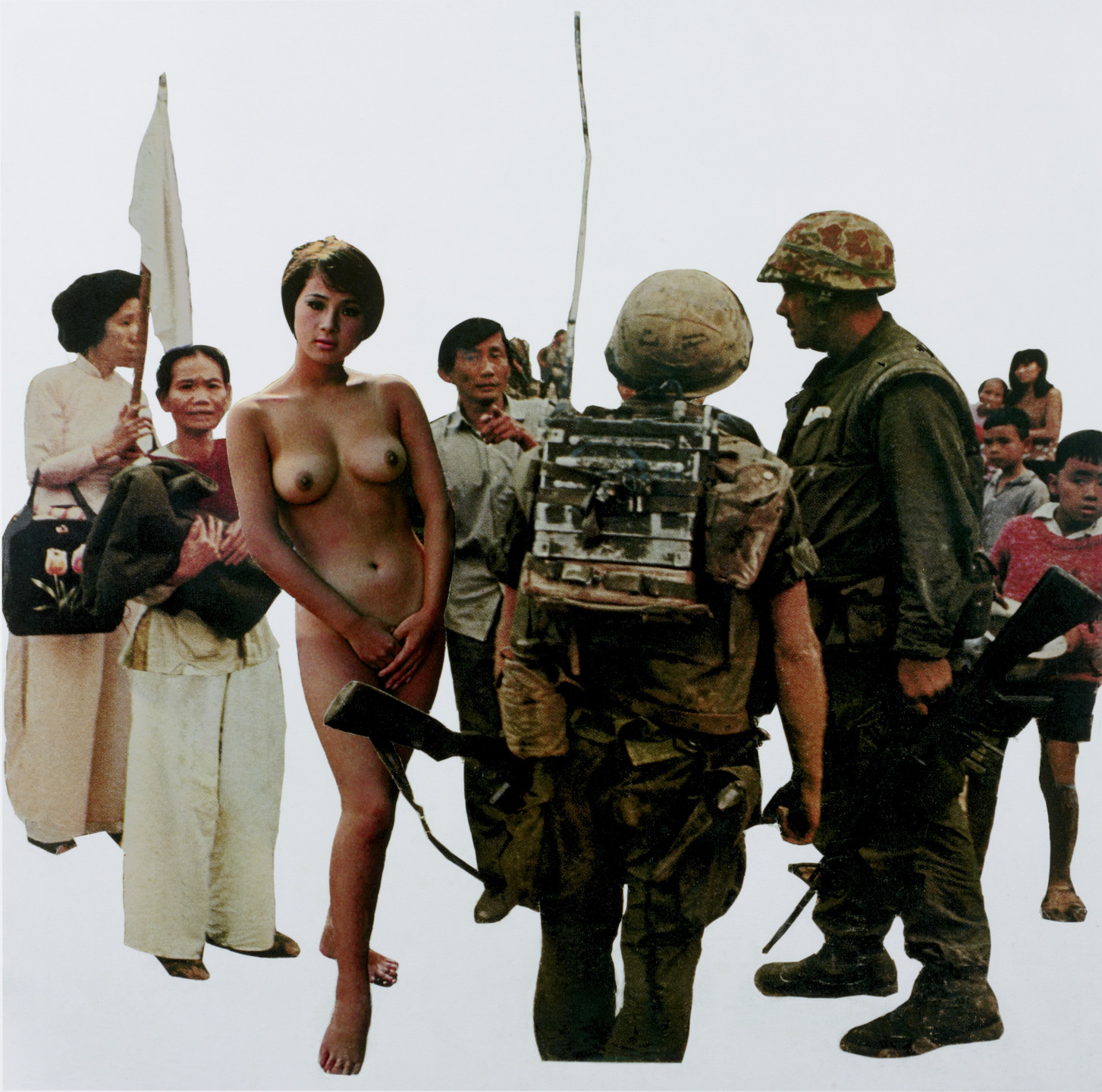 Martha Rosler. Playboy (On View) from the series House Beautiful: Bringing the War Home, in Vietnam. c. 1967-72