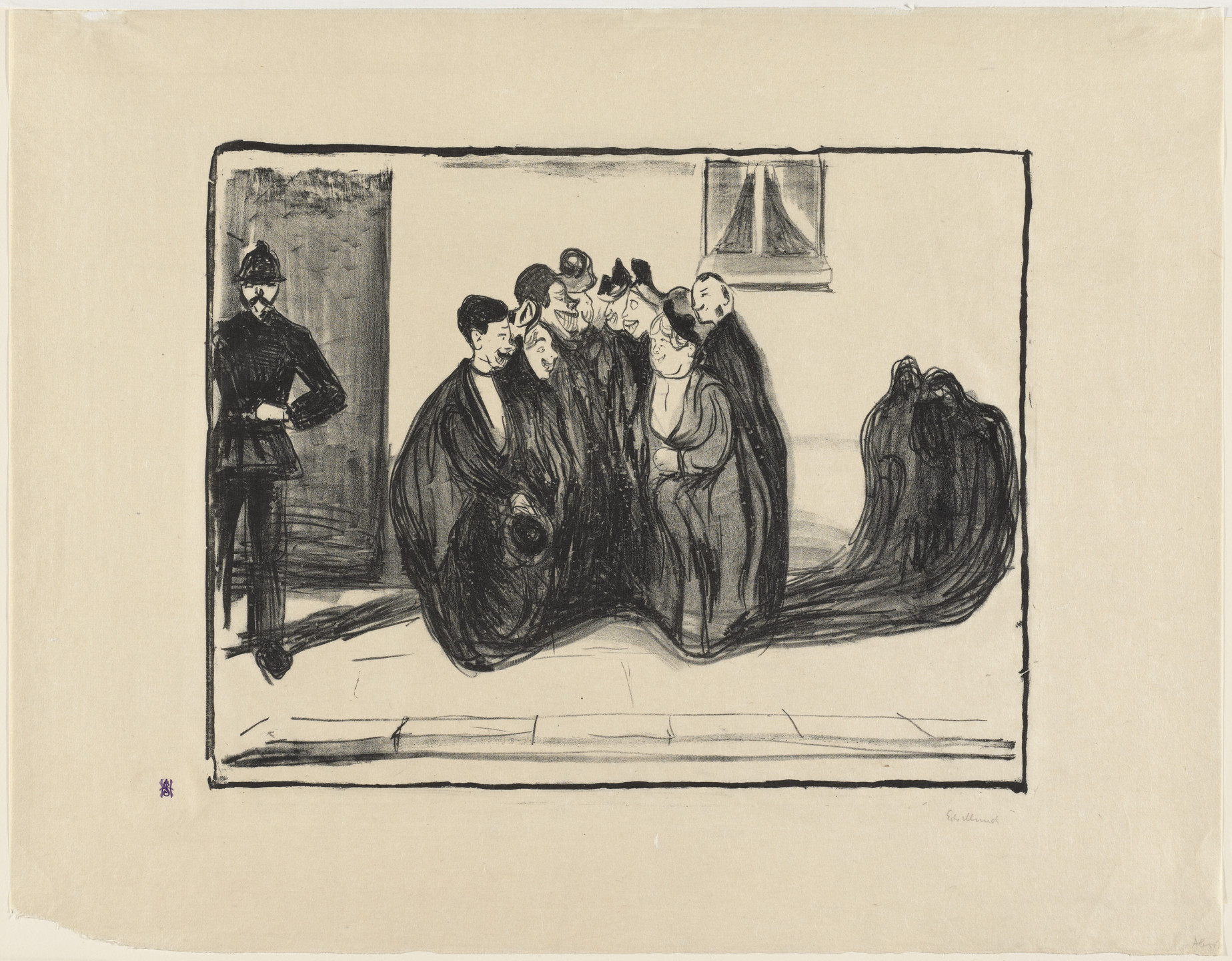 Edvard Munch. Thanking the Group. 1899