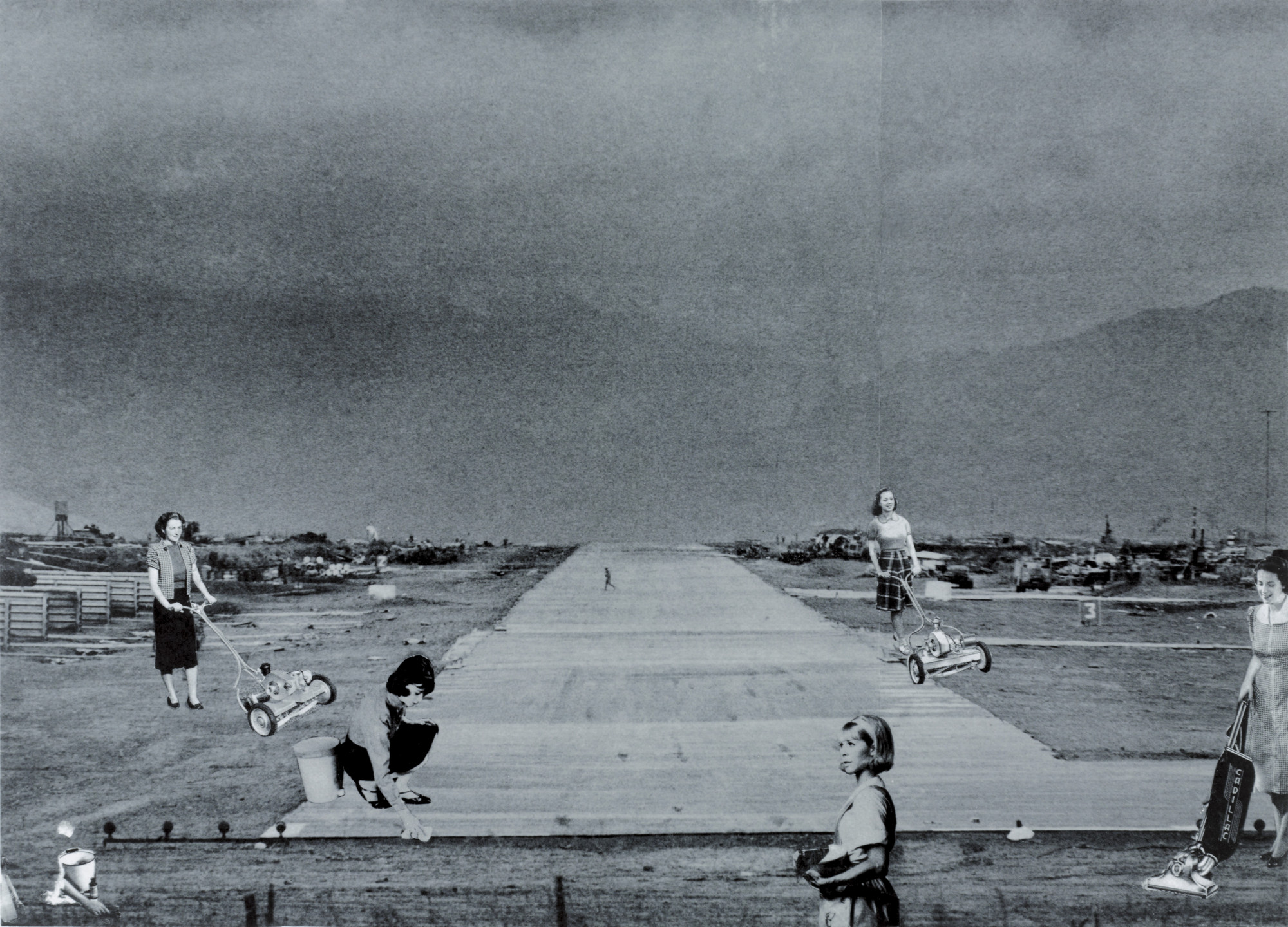 Martha Rosler. Runway from the series House Beautiful: Bringing the War Home, in Vietnam. c. 1967-72