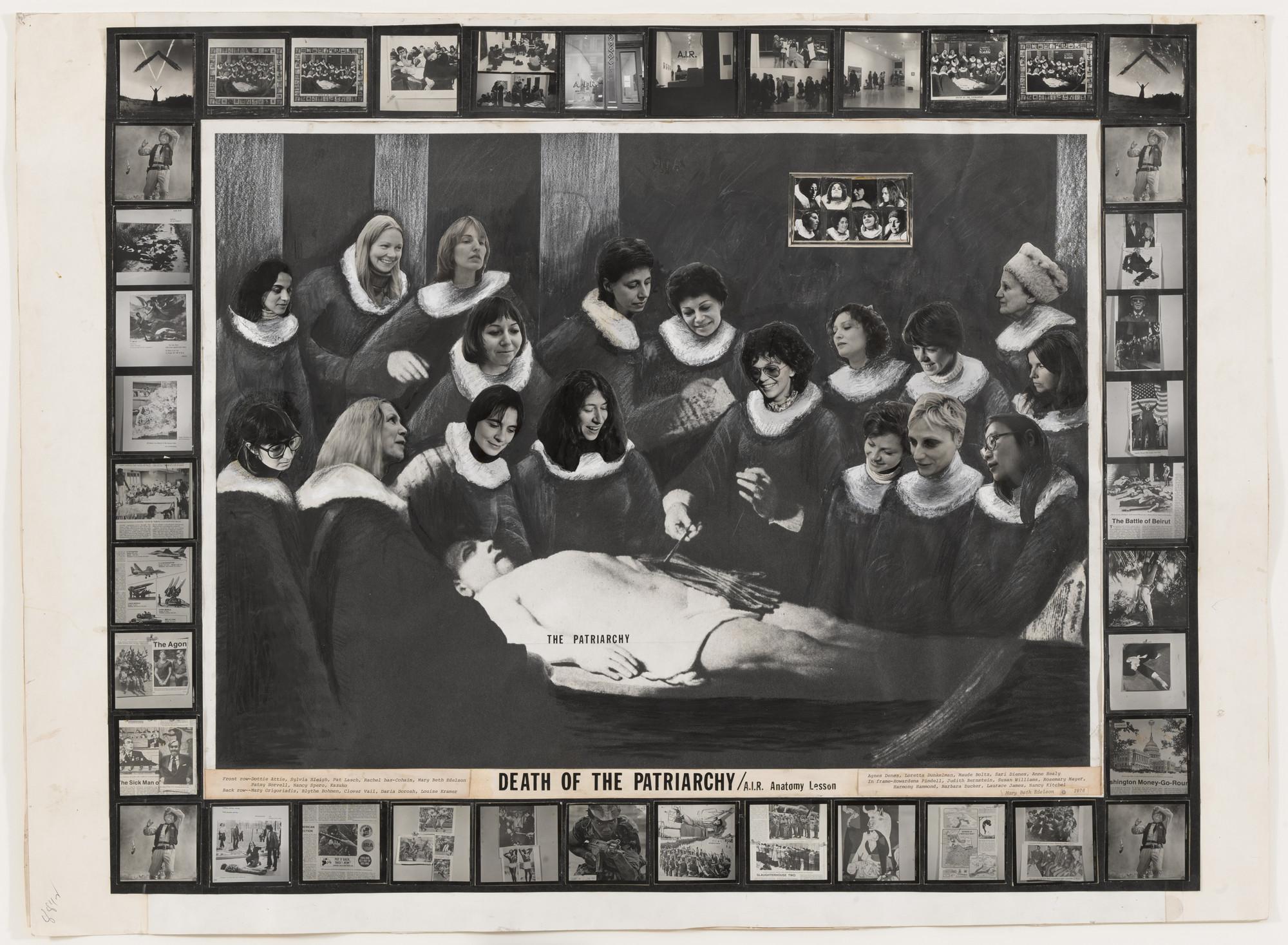 mary beth edelson death of patriarchy a i r anatomy lesson 1976