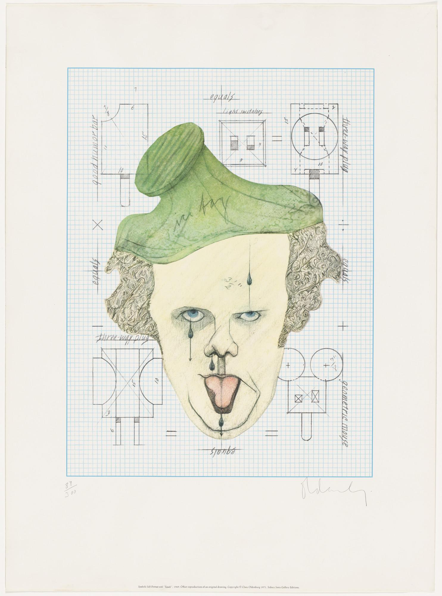 Claes Oldenburg Symbolic Self Portrait With Equals 1971 Moma