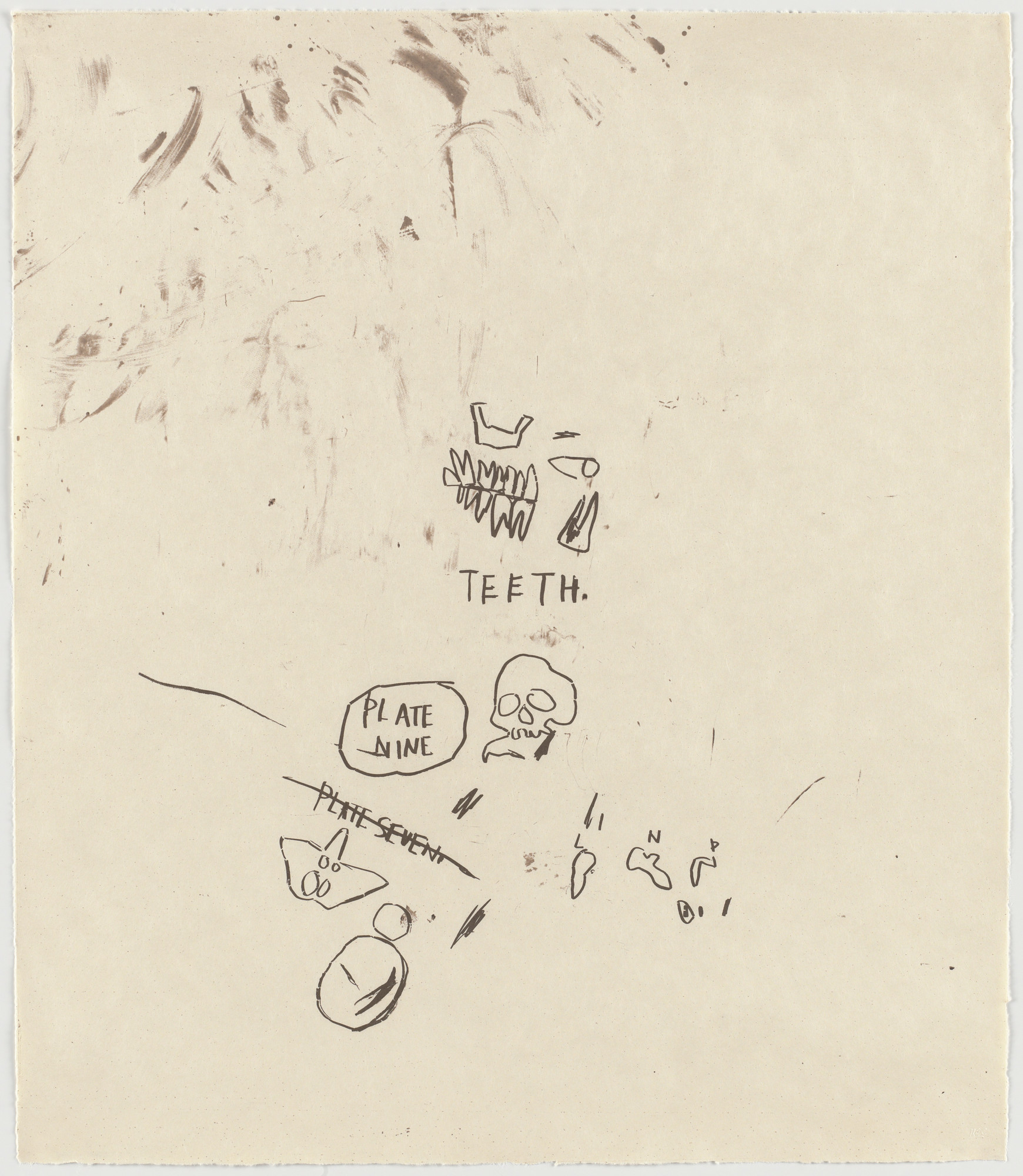 Jean-Michel Basquiat. Untitled, From Leonardo. 1983