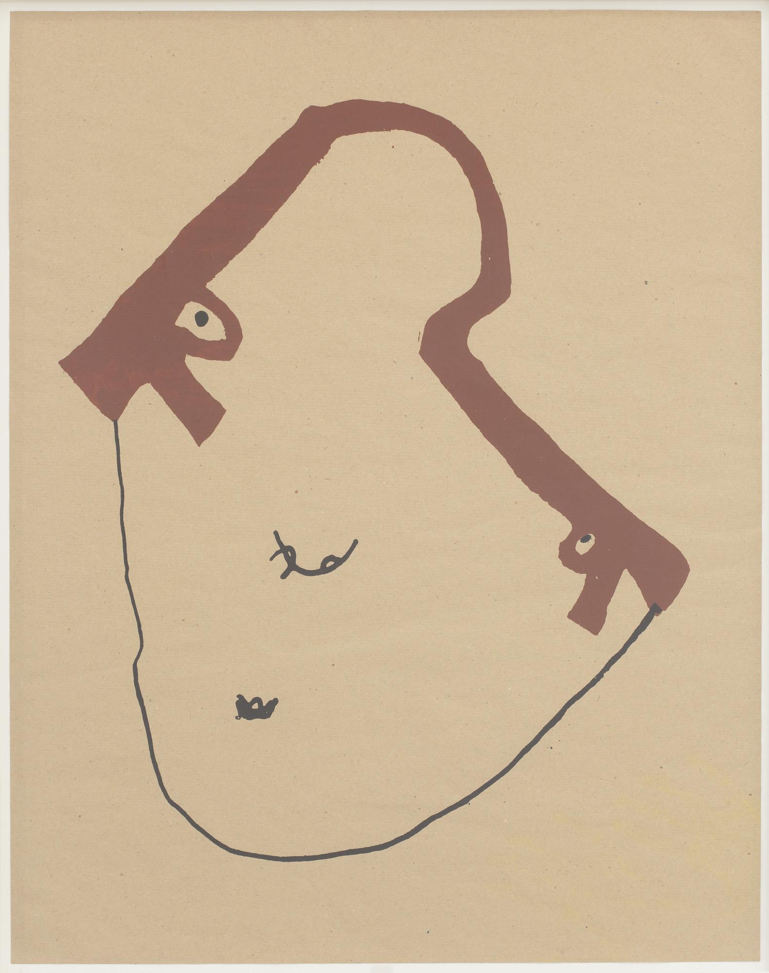 Walter Dahn. Gun Face. 1985 | MoMA