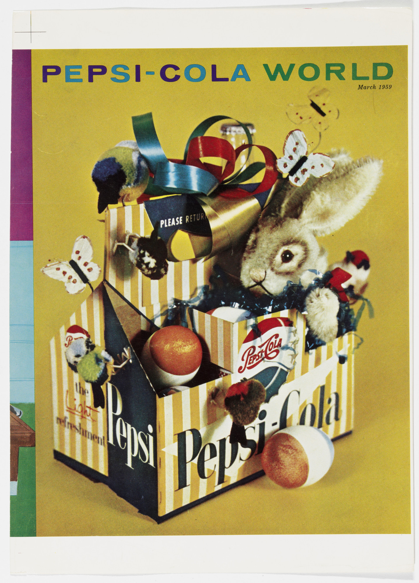 Robert Brownjohn, Ivan Chermayeff, Thomas Geismar. Artist's Proof for the cover of Pepsi-Cola World, March, 1959. 1959