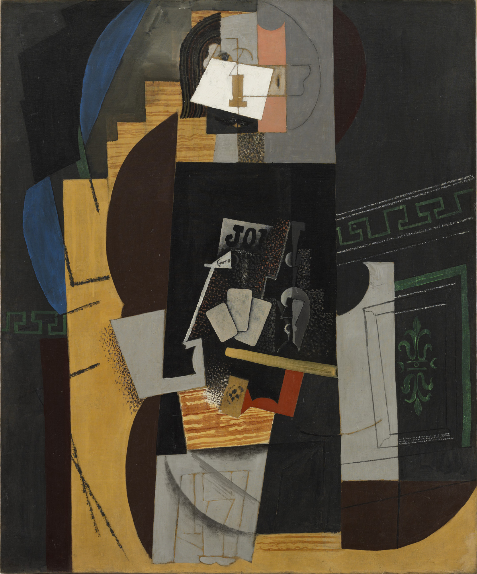 Pablo Picasso. Card Player. Paris, winter 1913-14