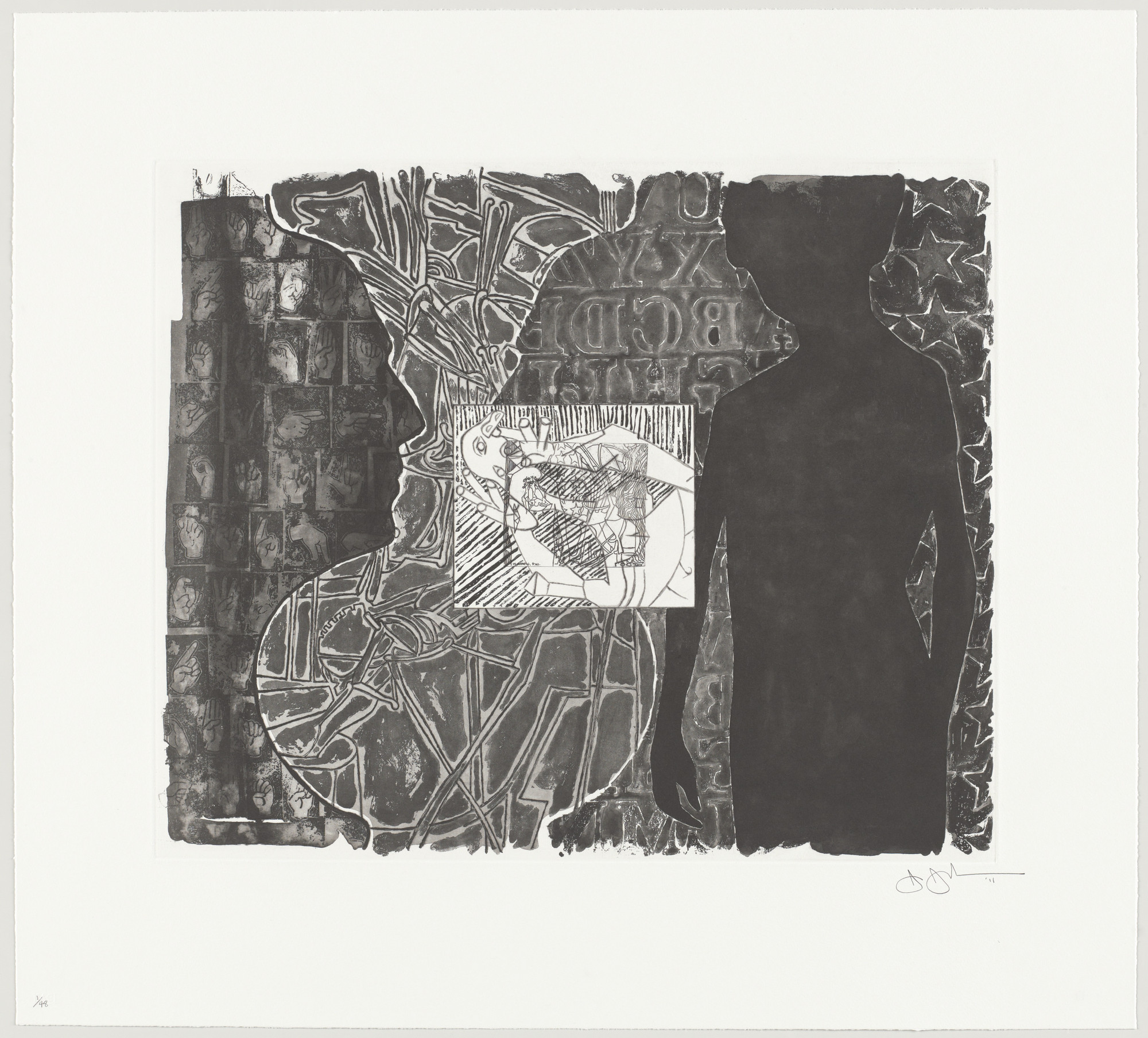 Jasper Johns. Shrinky Dink 1. 2011