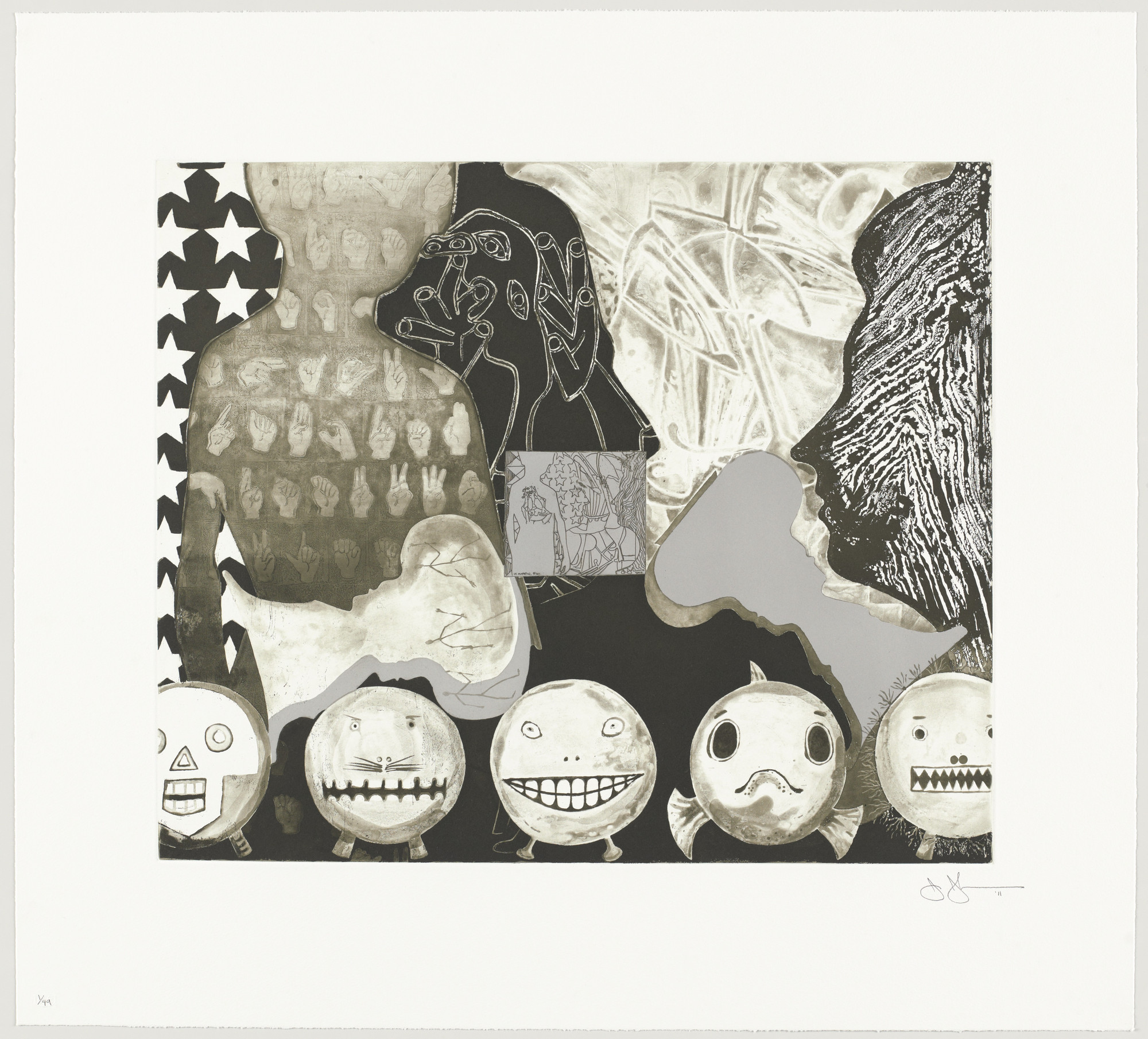Jasper Johns. Shrinky Dink 4. 2011