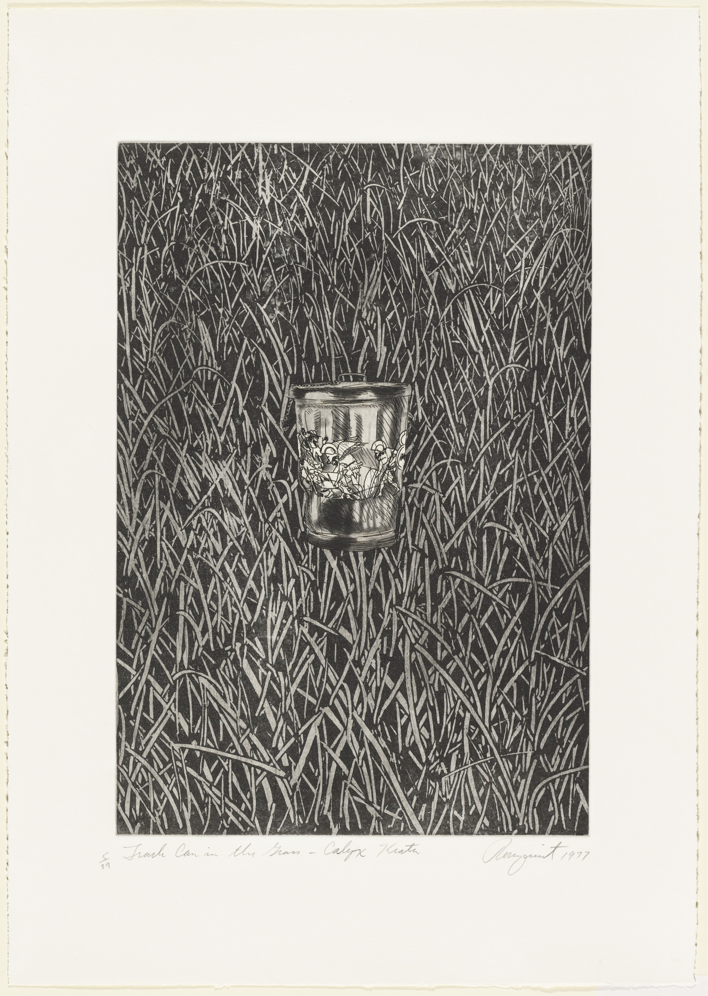 James Rosenquist. Trash Can in the Grass Calyx-Krater. 1977