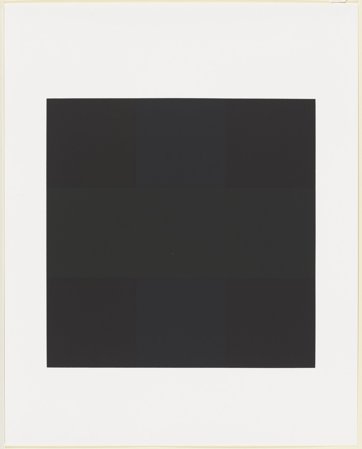 Ad Reinhardt. Untitled from Graphik USA. 1967, published 1968