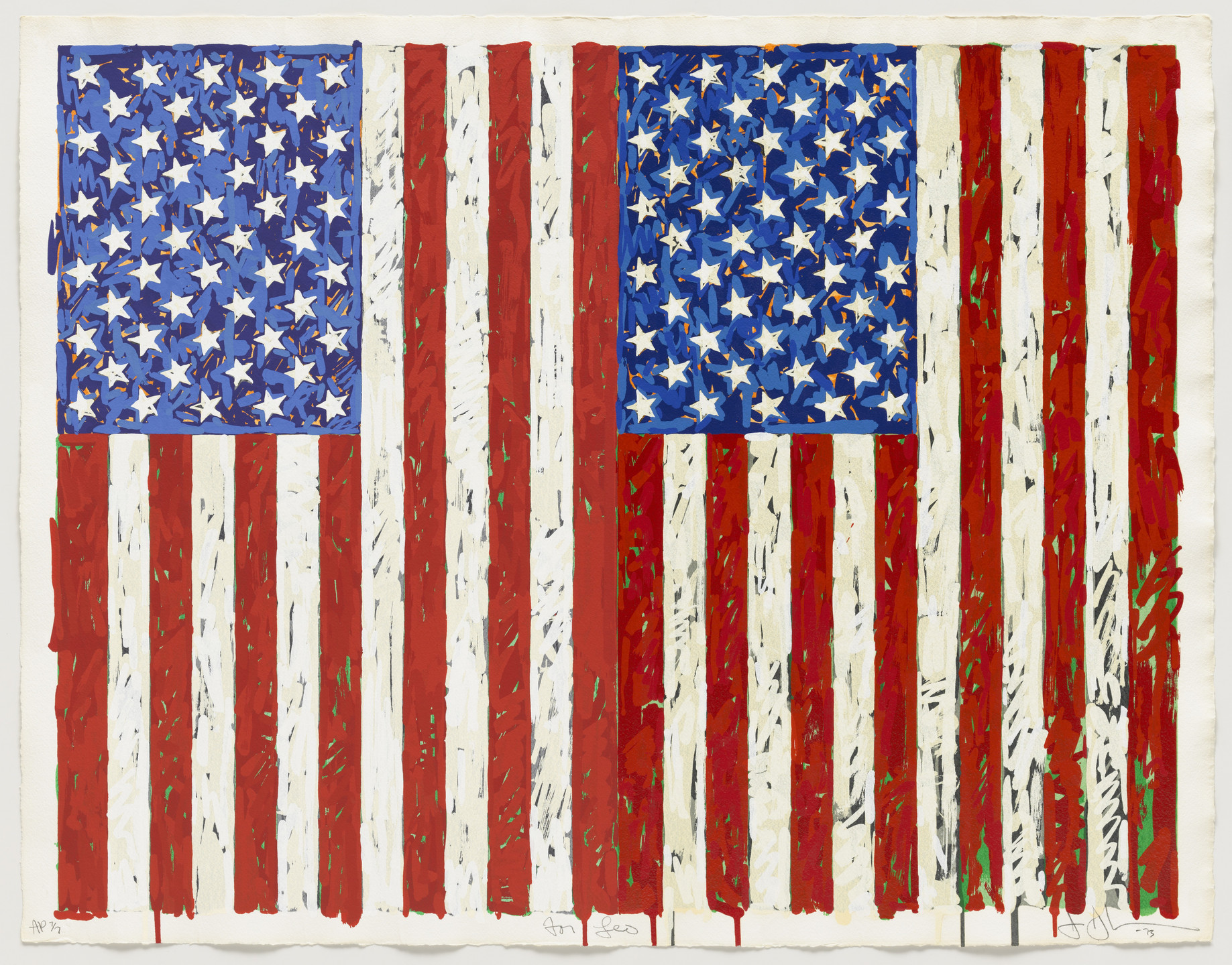Jasper Johns. Flags I. 1973