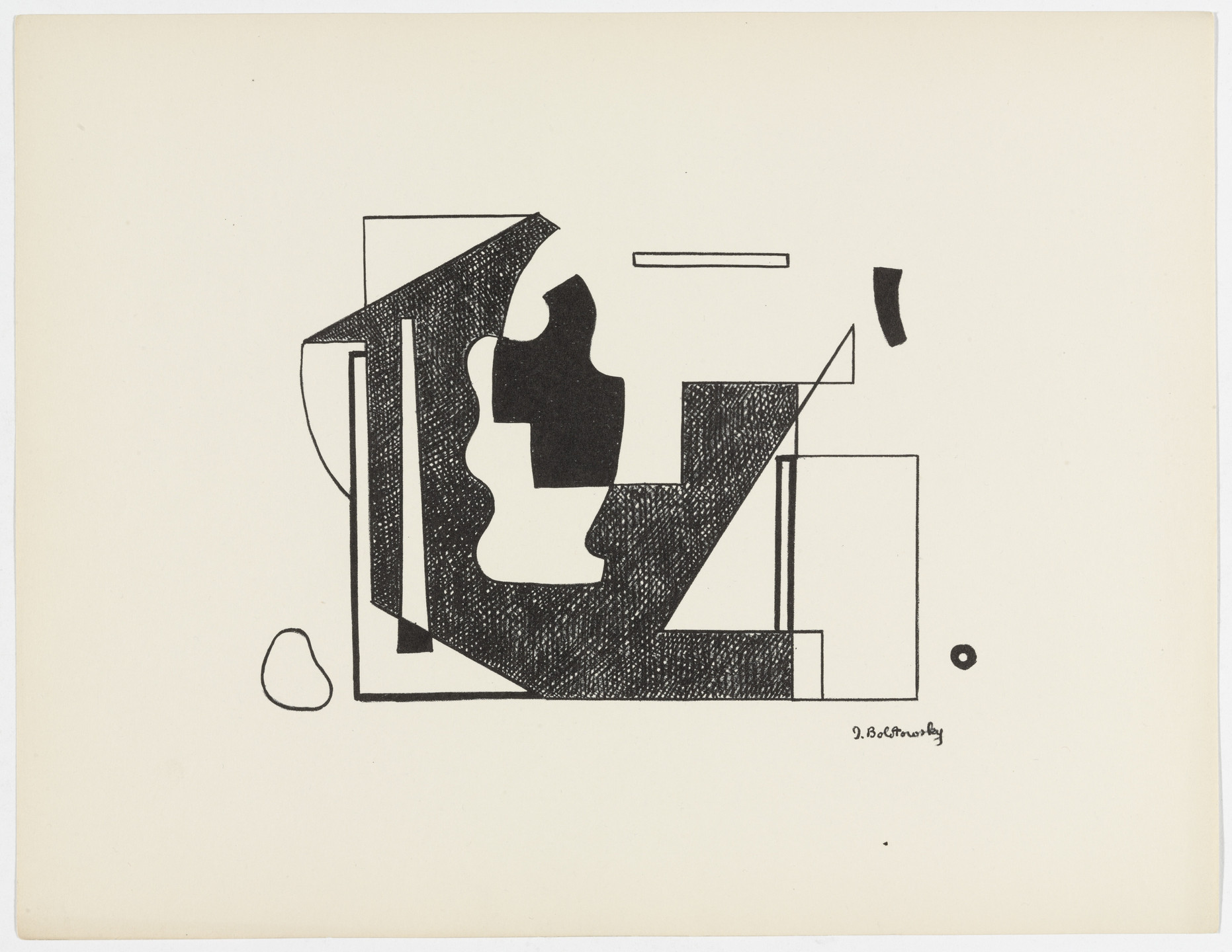 Ilya Bolotowsky. Untitled from American Abstract Artists. 1937