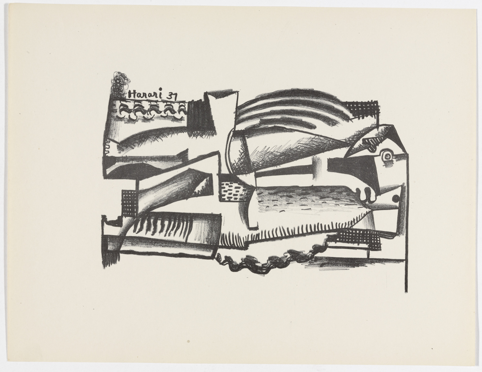 Hananiah Harari. Untitled from American Abstract Artists. 1937