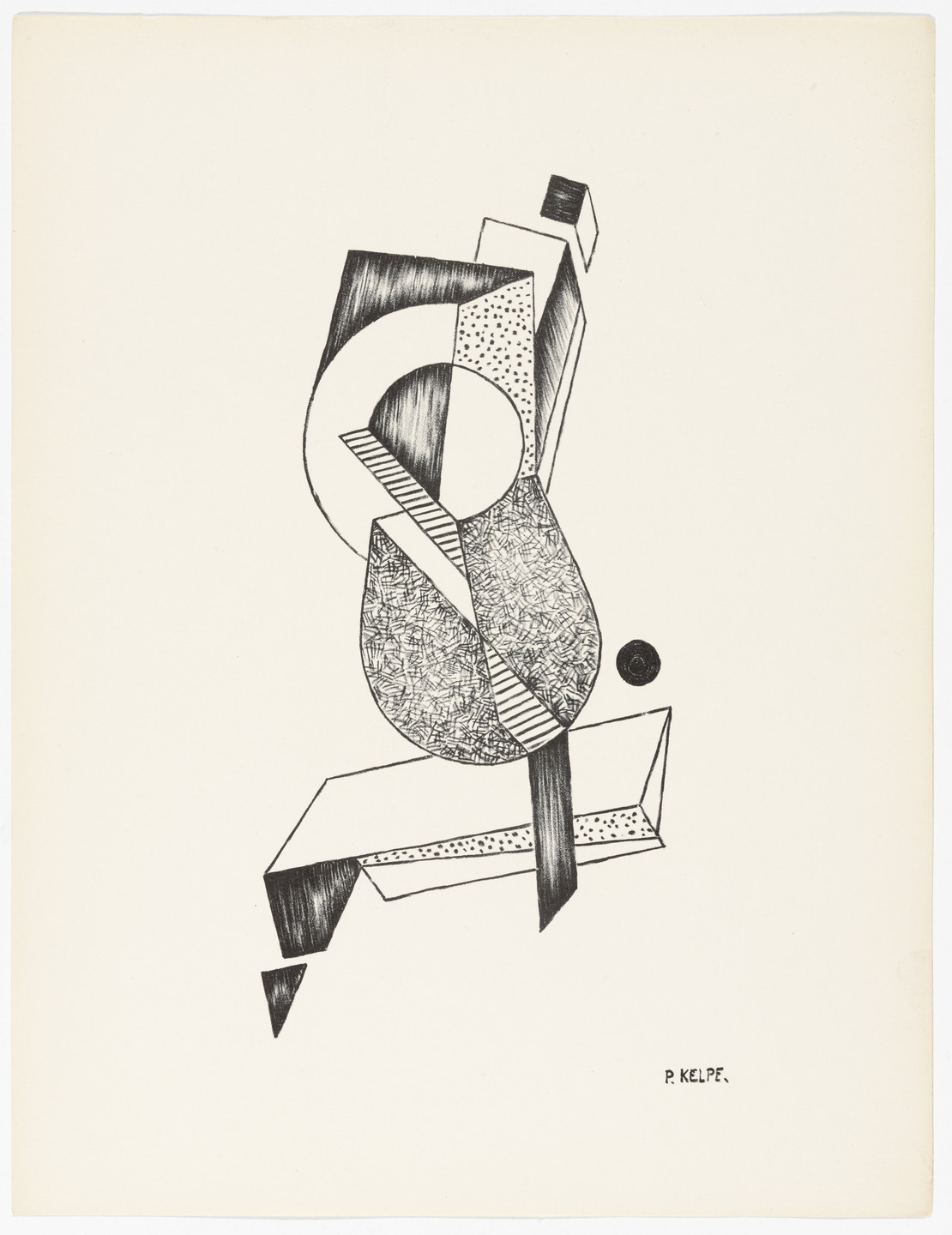 Paul Kelpe. Untitled from American Abstract Artists. 1937