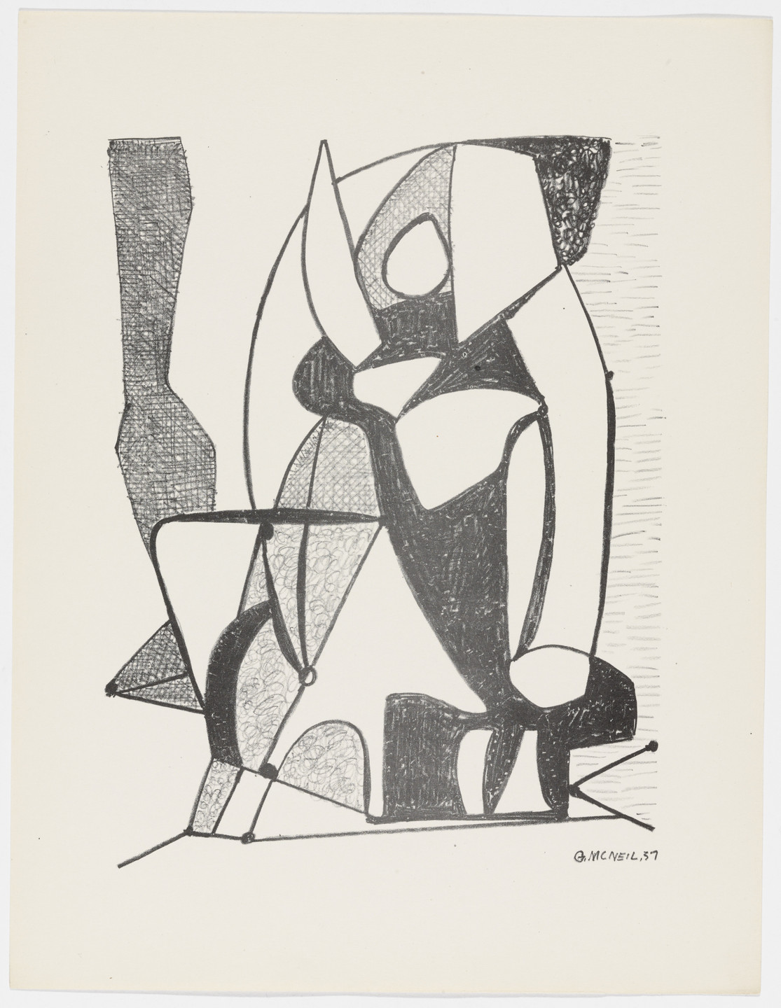 George McNeil. Untitled from American Abstract Artists. 1937