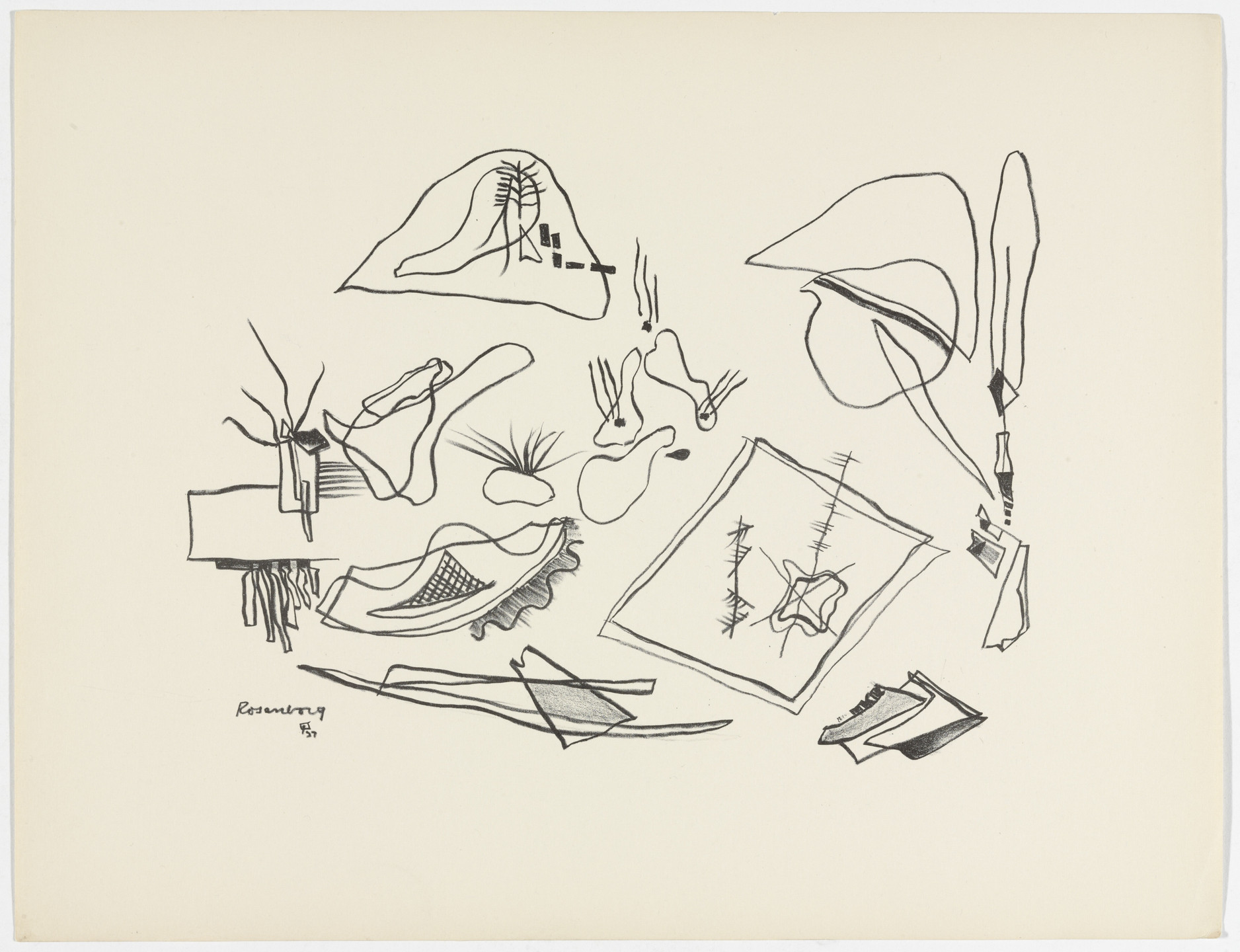 Ralph M. Rosenborg. Untitled from American Abstract Artists. 1937