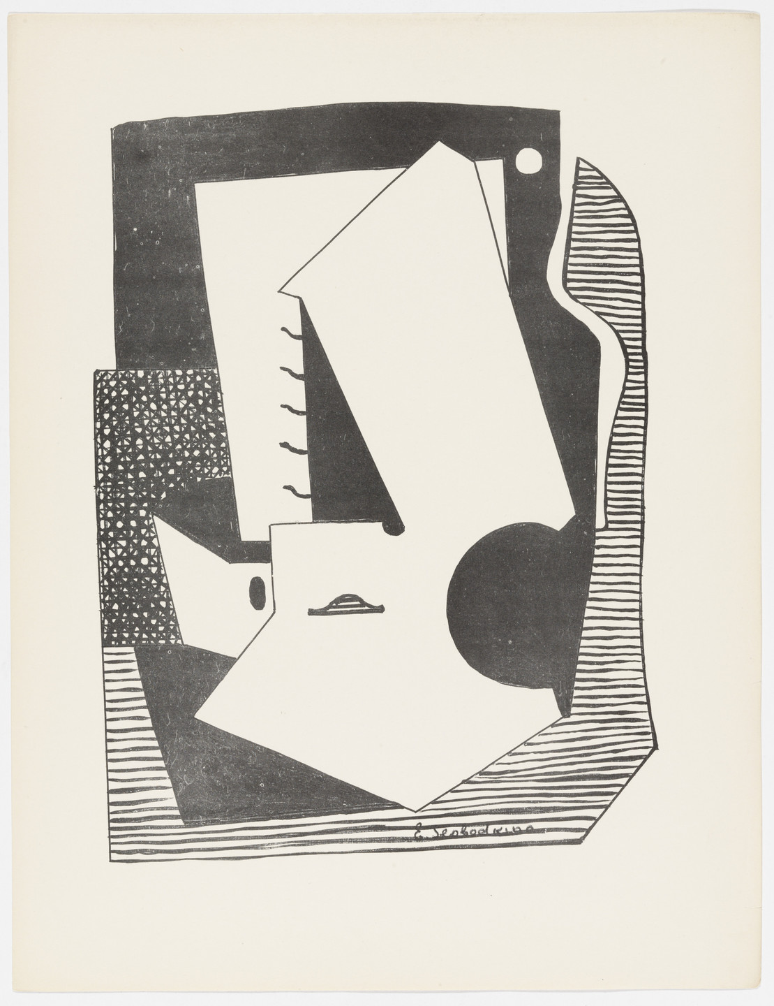 Esphyr Slobodkina. Untitled from American Abstract Artists. 1937