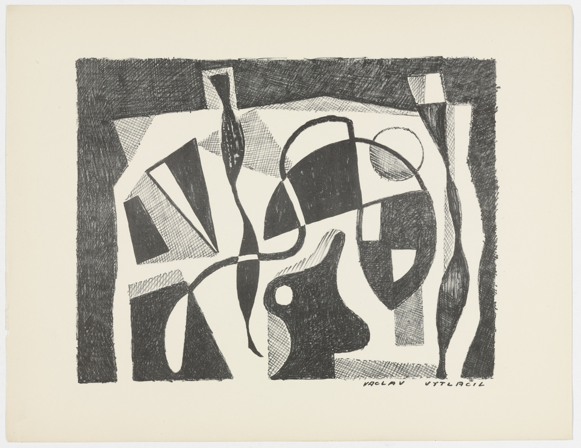 Vaclav Vytlacil. Untitled from American Abstract Artists. 1937