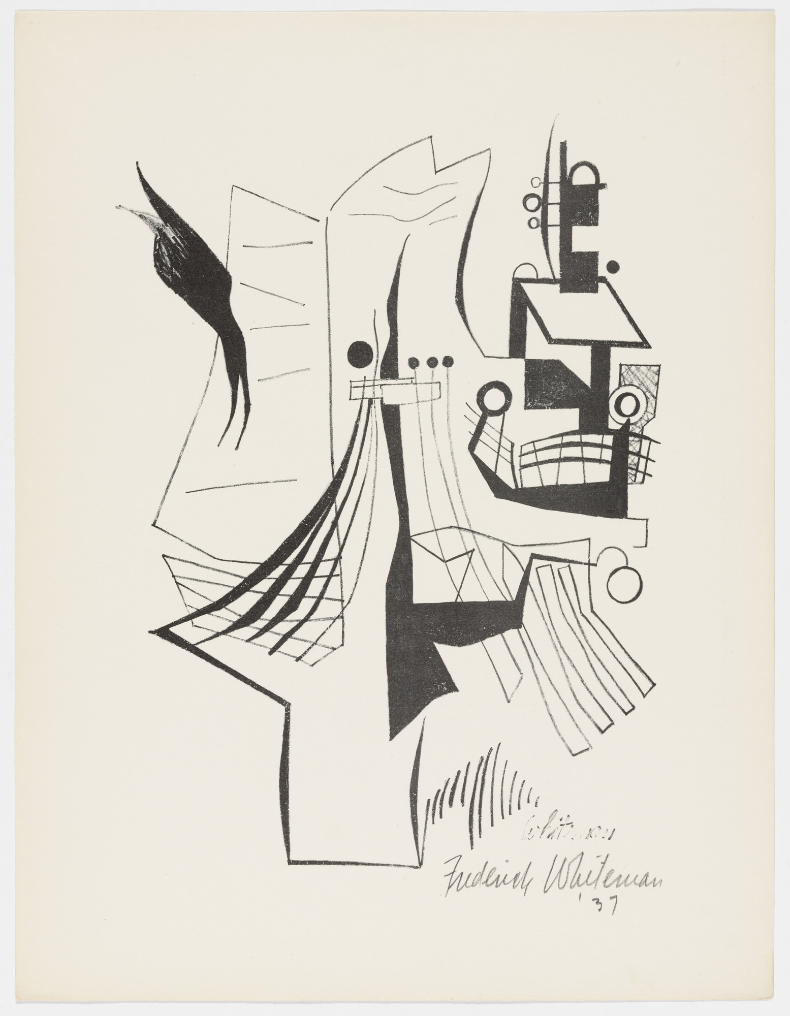 Fredrick J. Whiteman. Untitled from American Abstract Artists. 1937