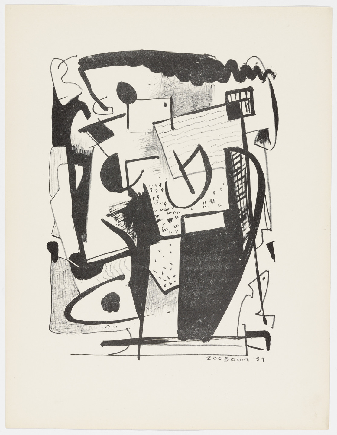 Wilfred M. Zogbaum. Untitled from American Abstract Artists. 1937