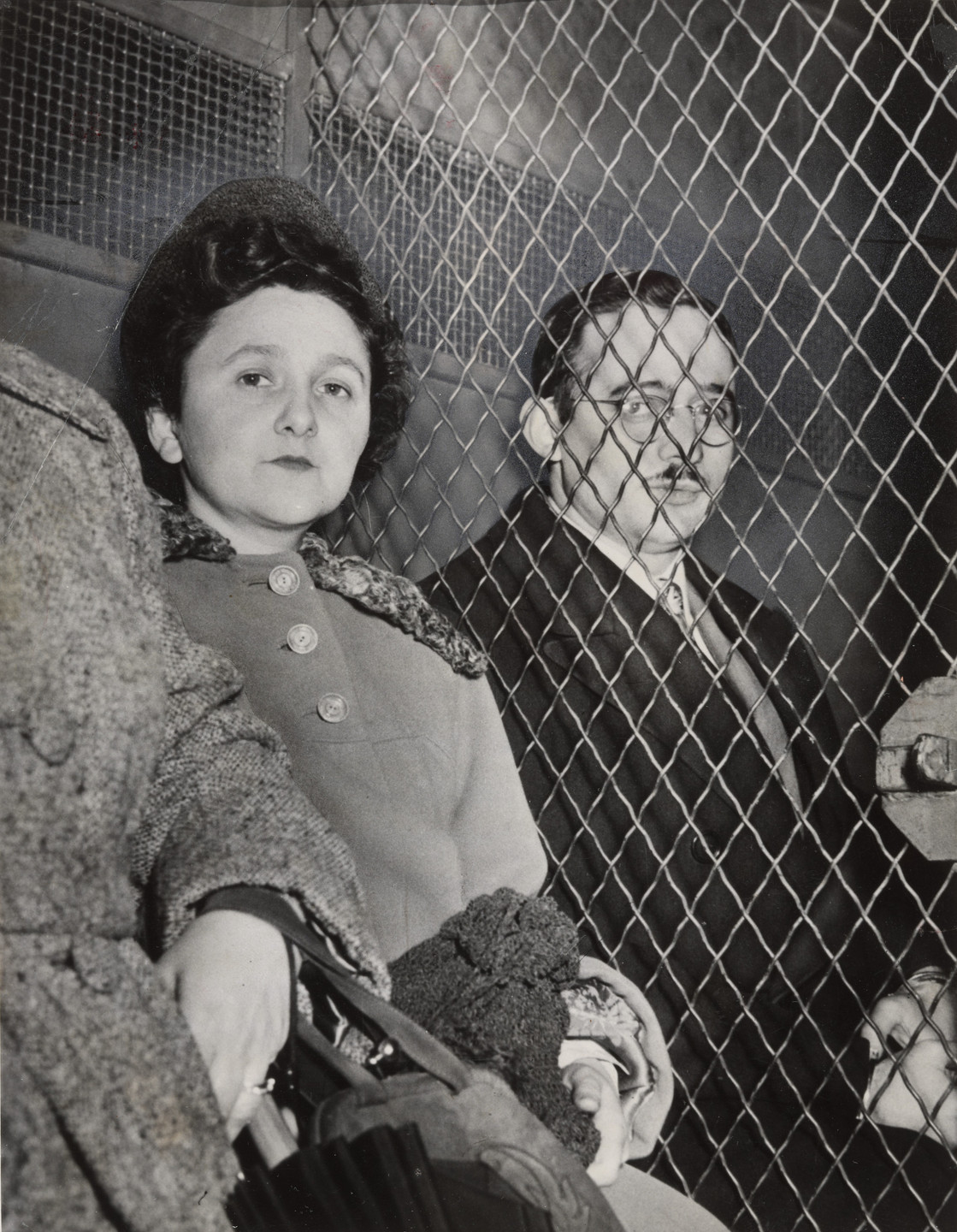 Associated Press, Roger Higgins. Ethel and Julius Rosenberg on Their Way to Jail in New York. March 29, 1951