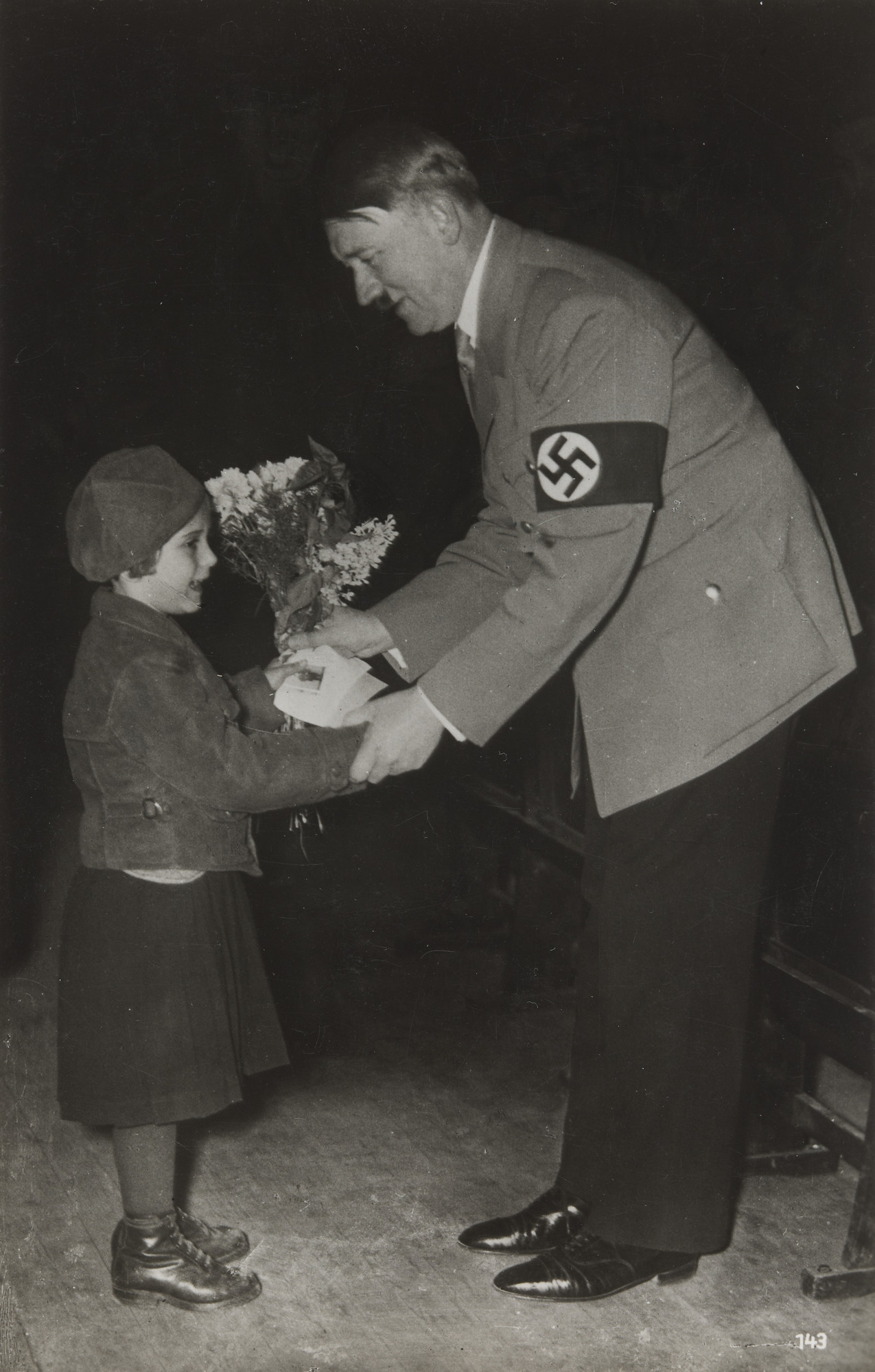 Berlin Foto Senneke. Girl Giving Hitler Flowers. 1933-45 | MoMA