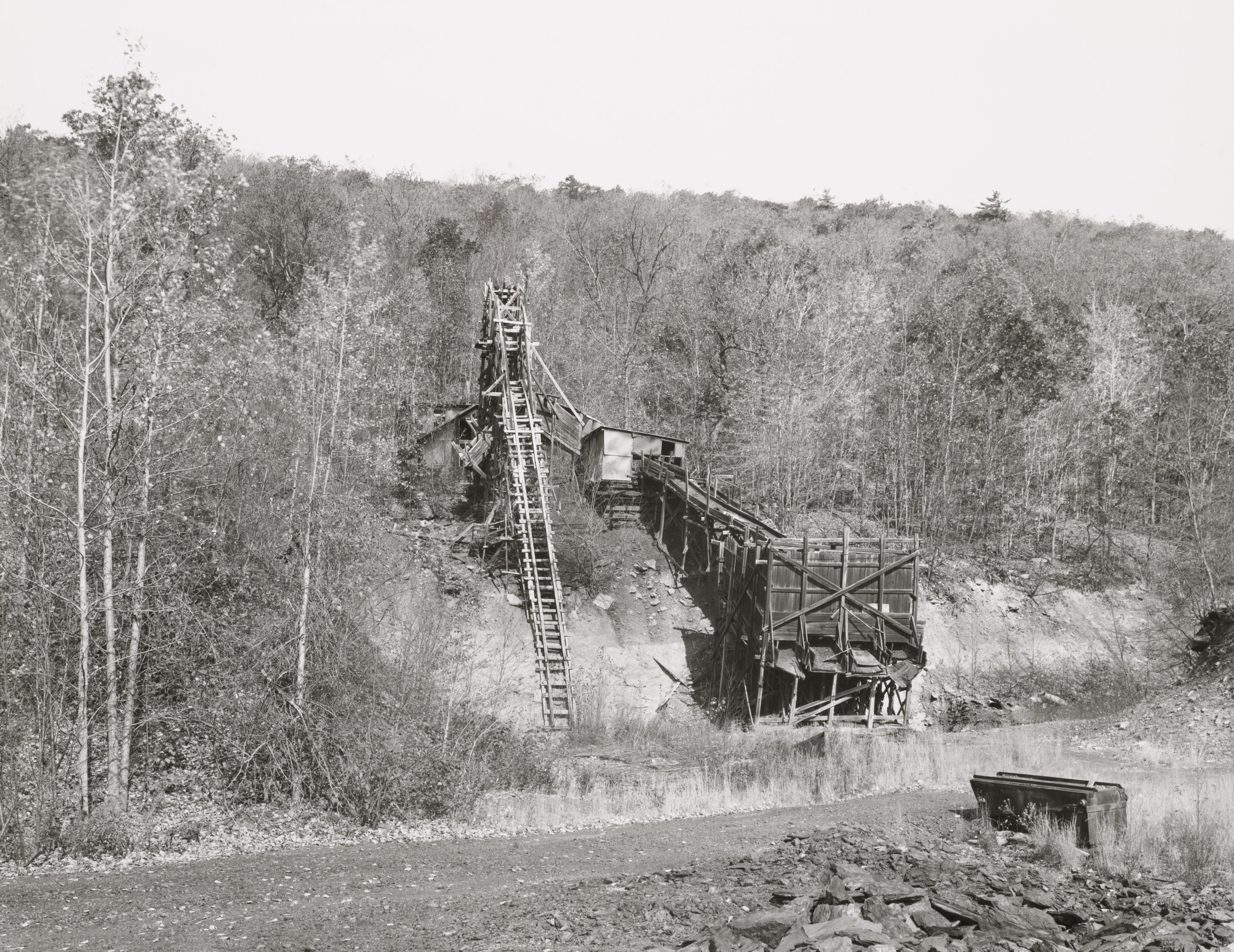 Bernd Becher, Hilla Becher. Coal Mine, Bear Valley, Schuylkill County, Pennsylvania, United States. 1974