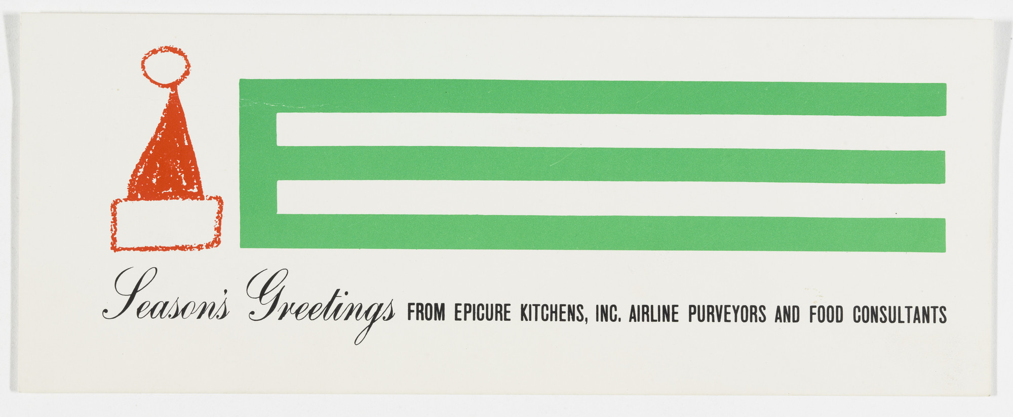 Robert Brownjohn Epicure Kitchens Christmas Card Late 1950s Moma